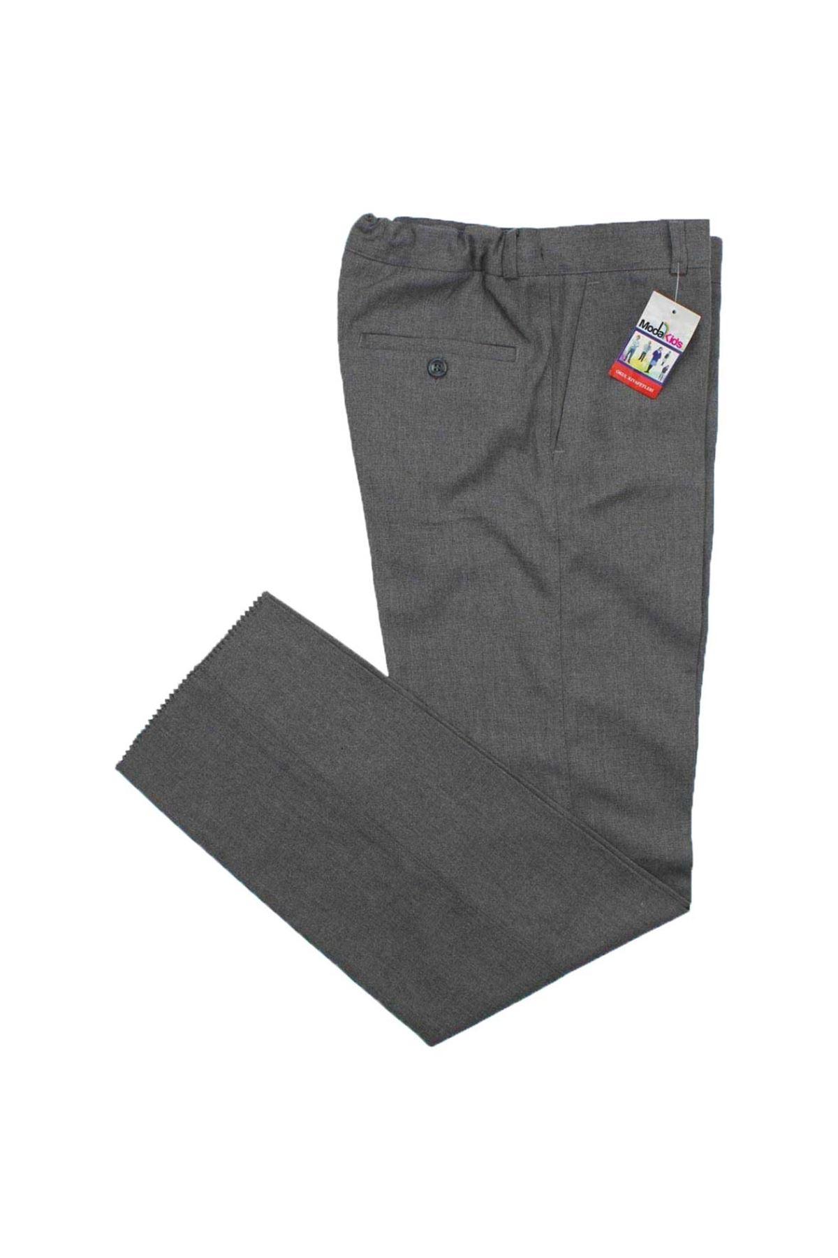 Modakıds Erkek Çocuk Gri Okul Pantalon
