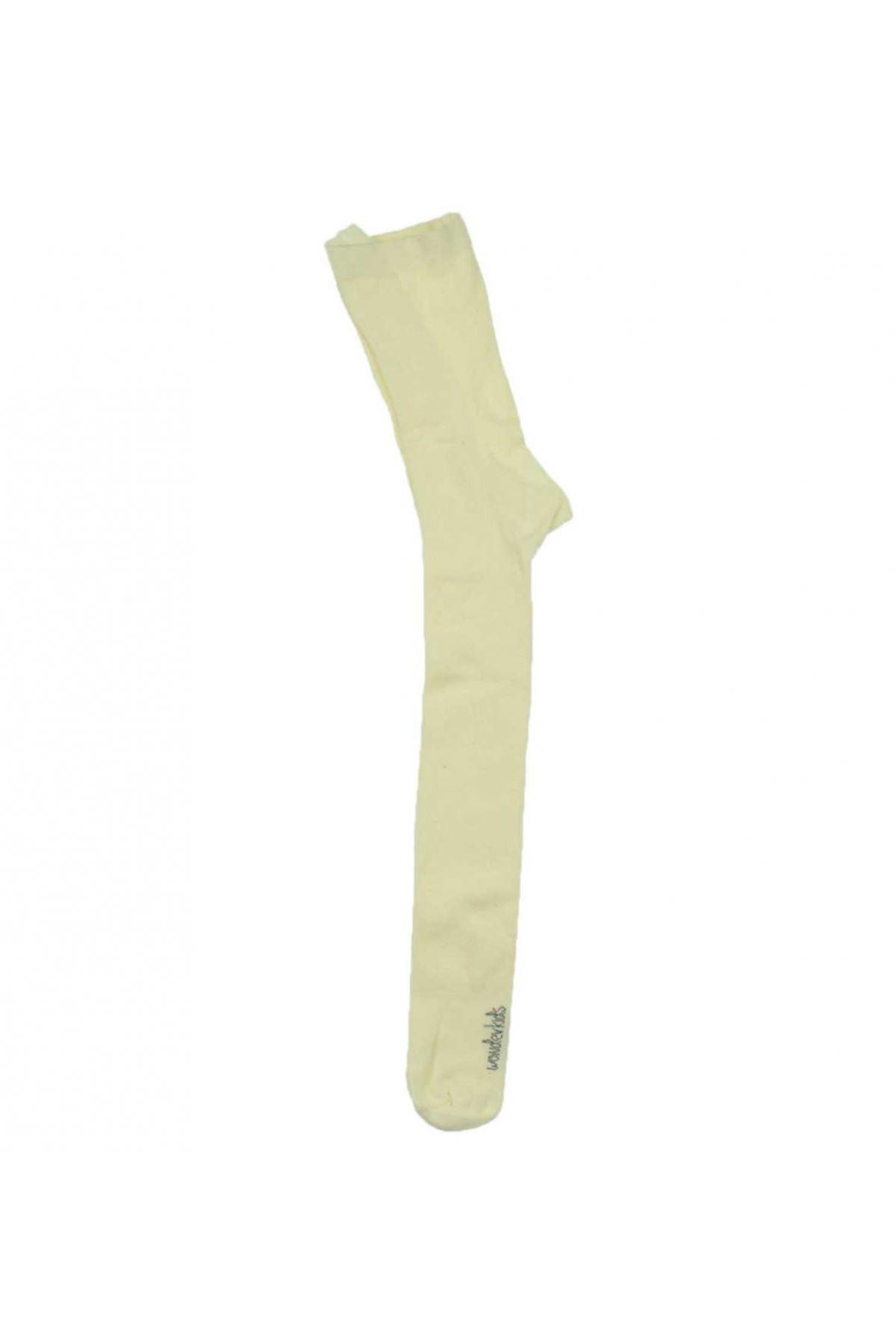 Wonder Kids Kız Çocuk Krem Külotlu Çorap