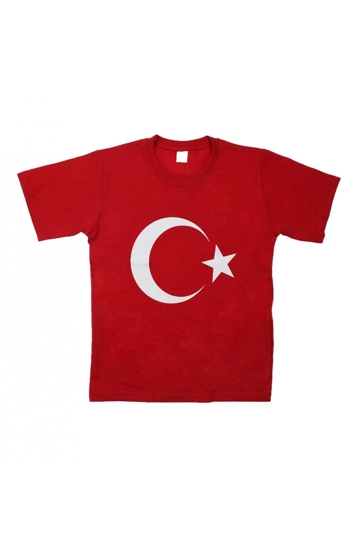 Kırmızı Bayrak Baskılı S-M-L-XL Tişört