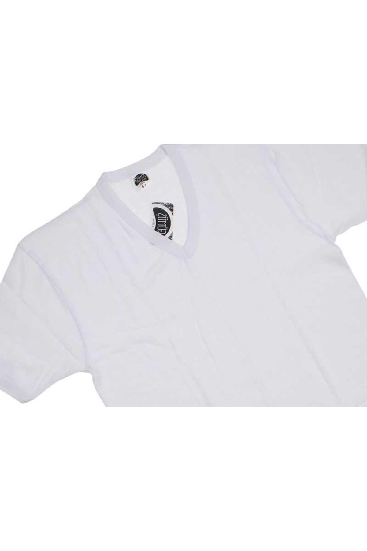 Gümüş İç Giyim Erkek V Yaka Beyaz Kollu Fanila