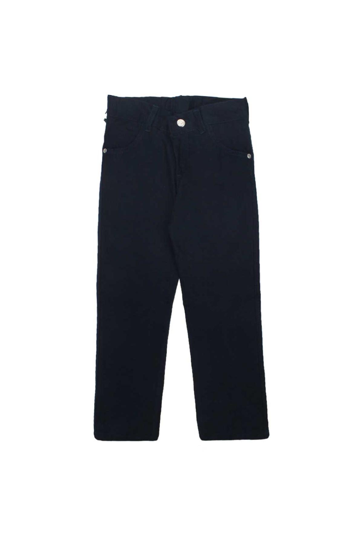 Lacivert  Erkek Çocuk Keten Pantolon