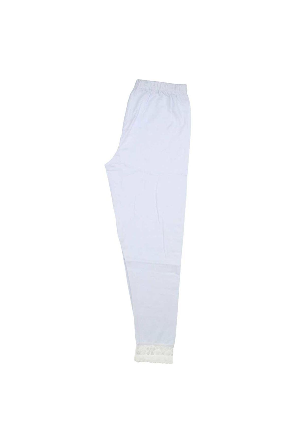Gümüş İç Giyim Bayan Beyaz Dantelli Tayt