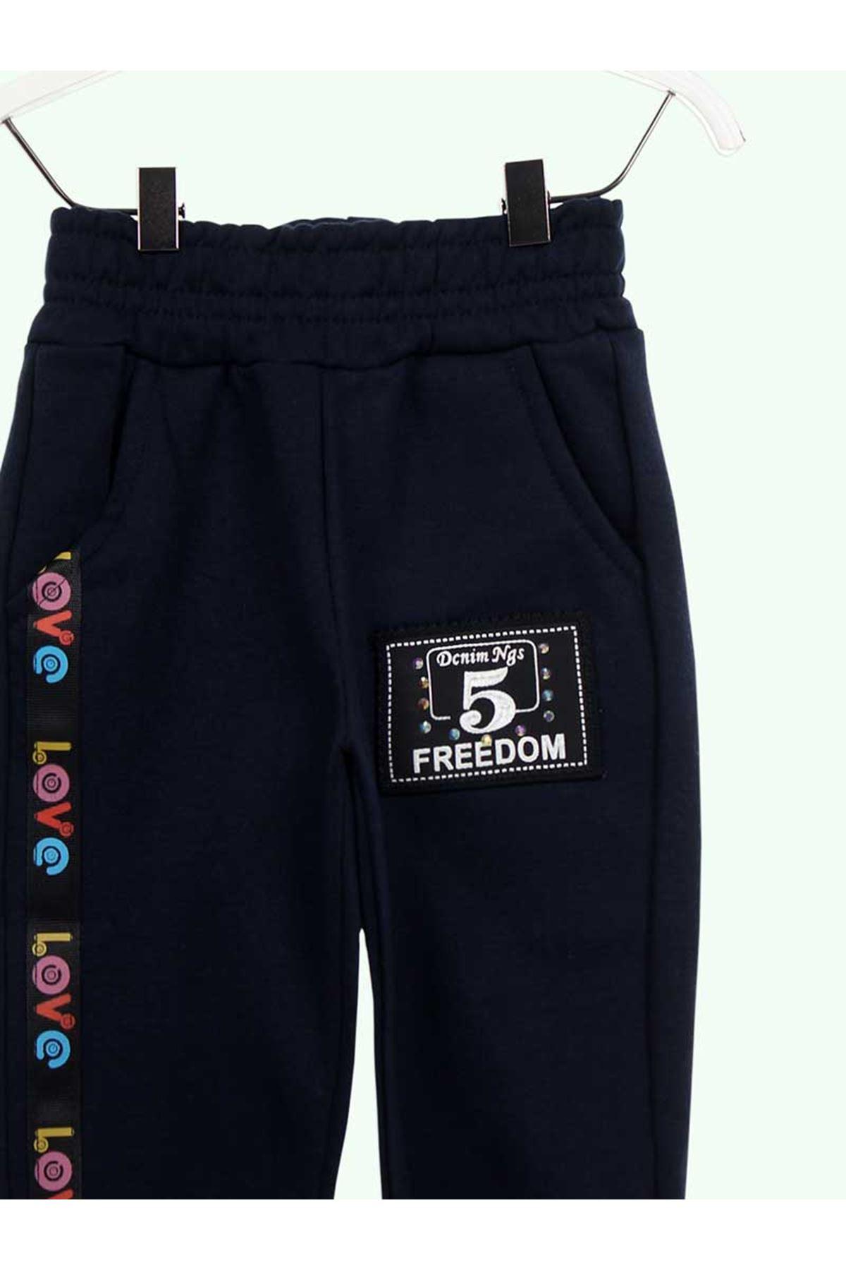 Navy Blue Female Child Sweatpants