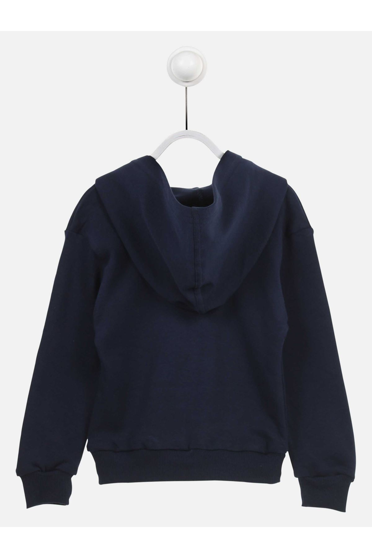 Navy Blue Male Child Hooded Sweat