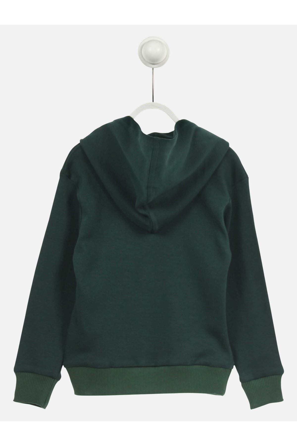 Green Male Child Hooded Sweat