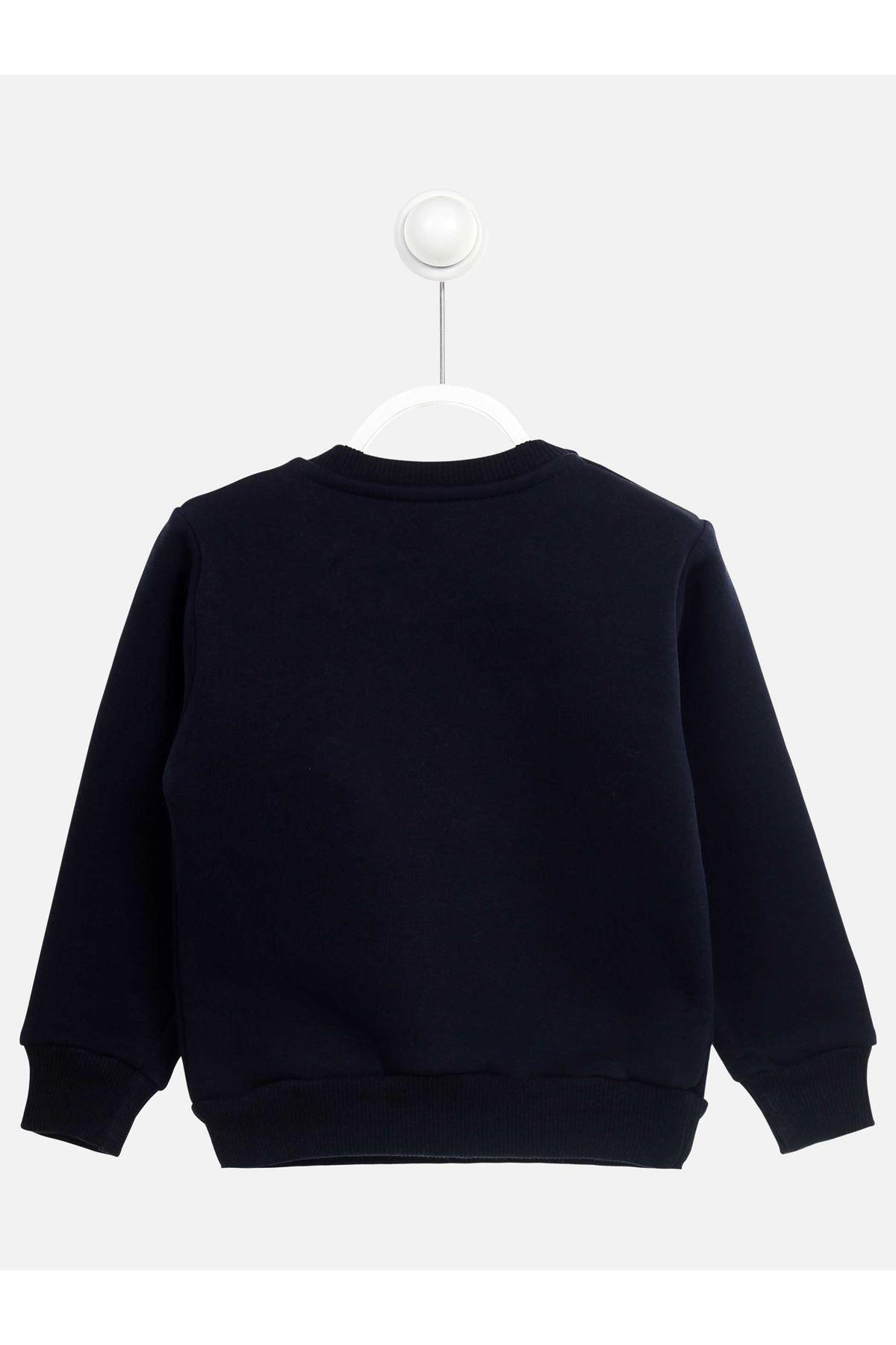 Navy Blue Winter Girls Children Sweatshirts