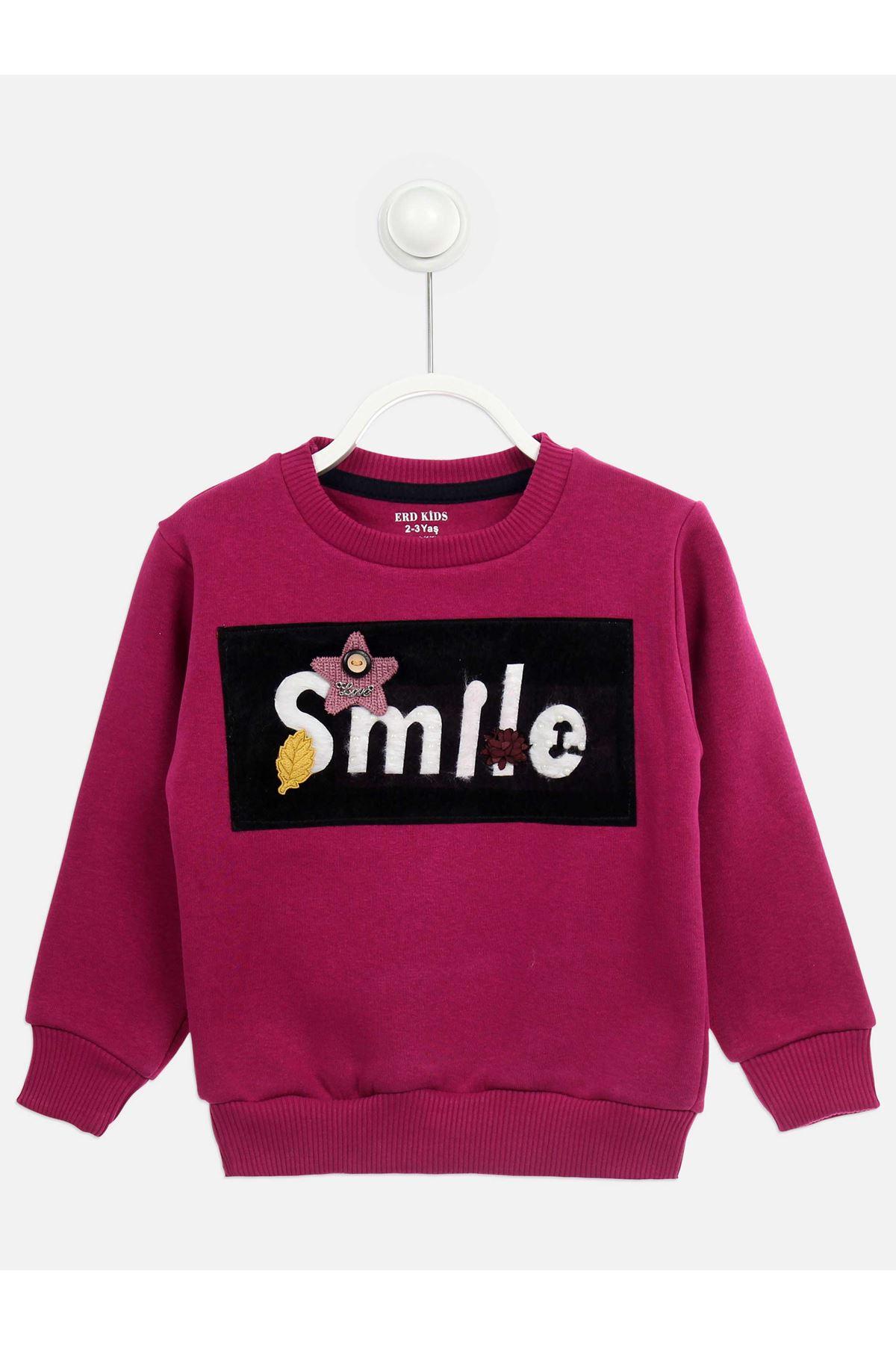 Mor Kışlık Kız Çocuk Sweatshirt