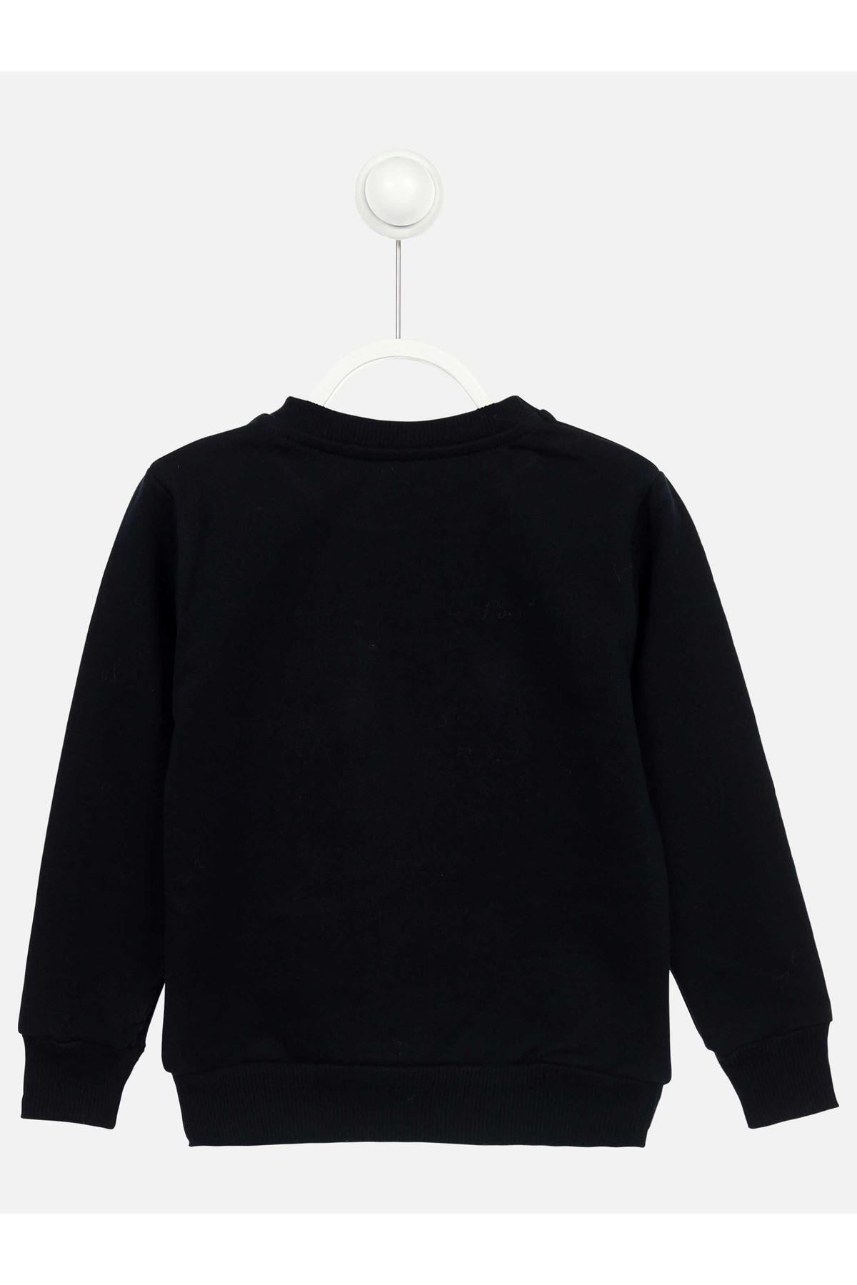 Navy Blue Seasonal Girl Child Sweatshirt
