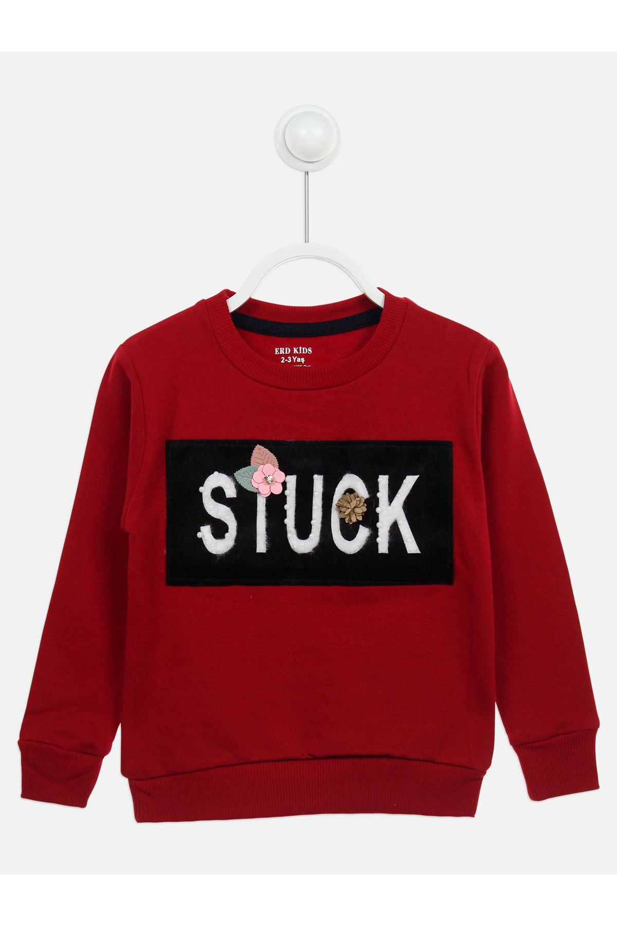 Burgundy Seasonal Girl Child Sweatshirt