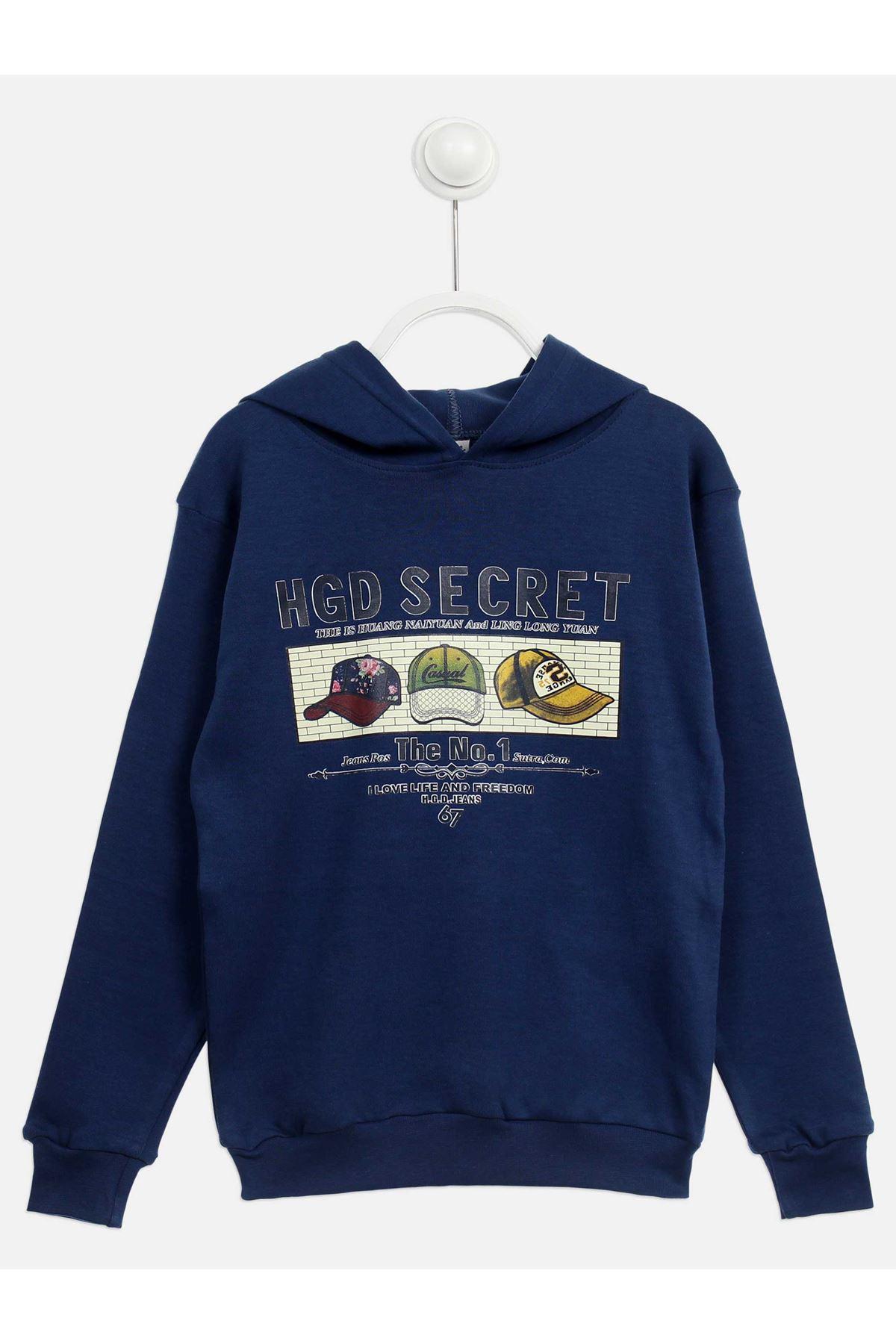 Indigo Seasonal Hooded Boy's Sweatshirt