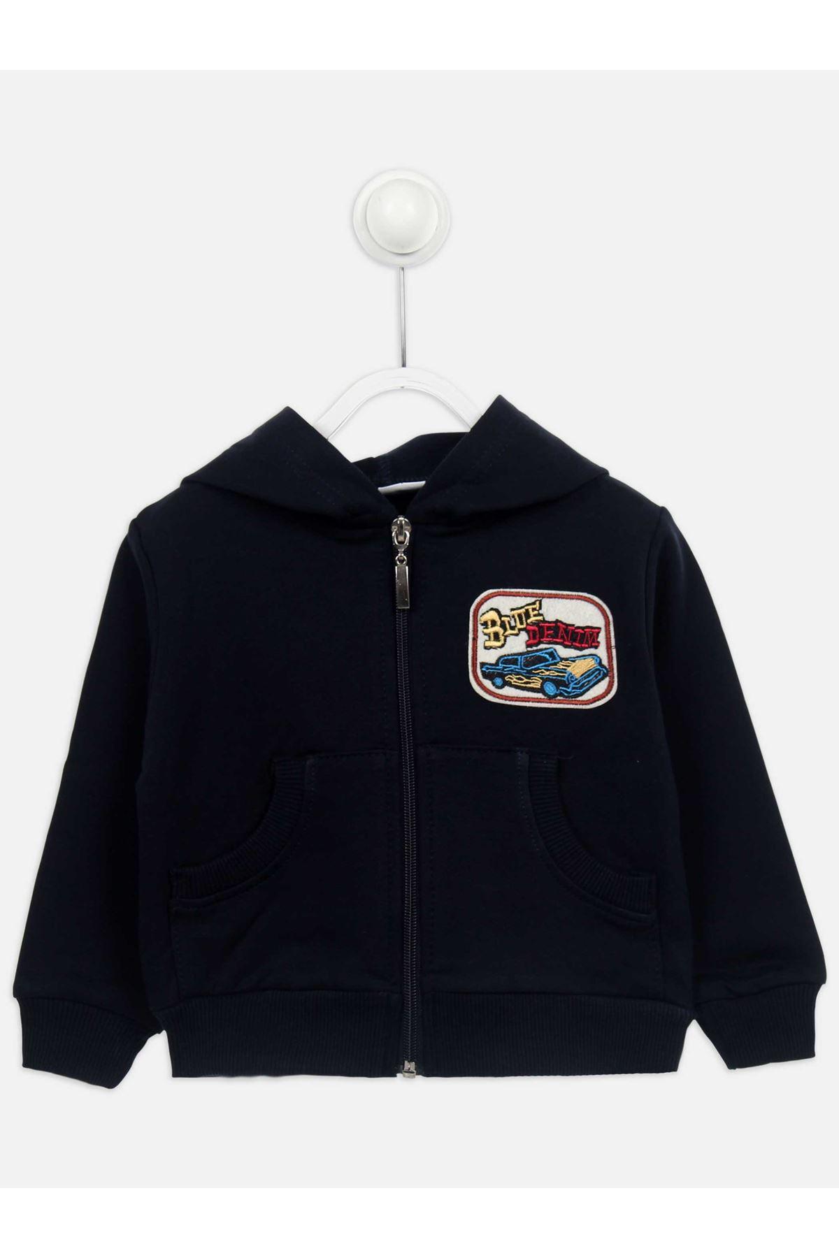 Dark Navy Blue Seasonal Male Child Sweatshirt