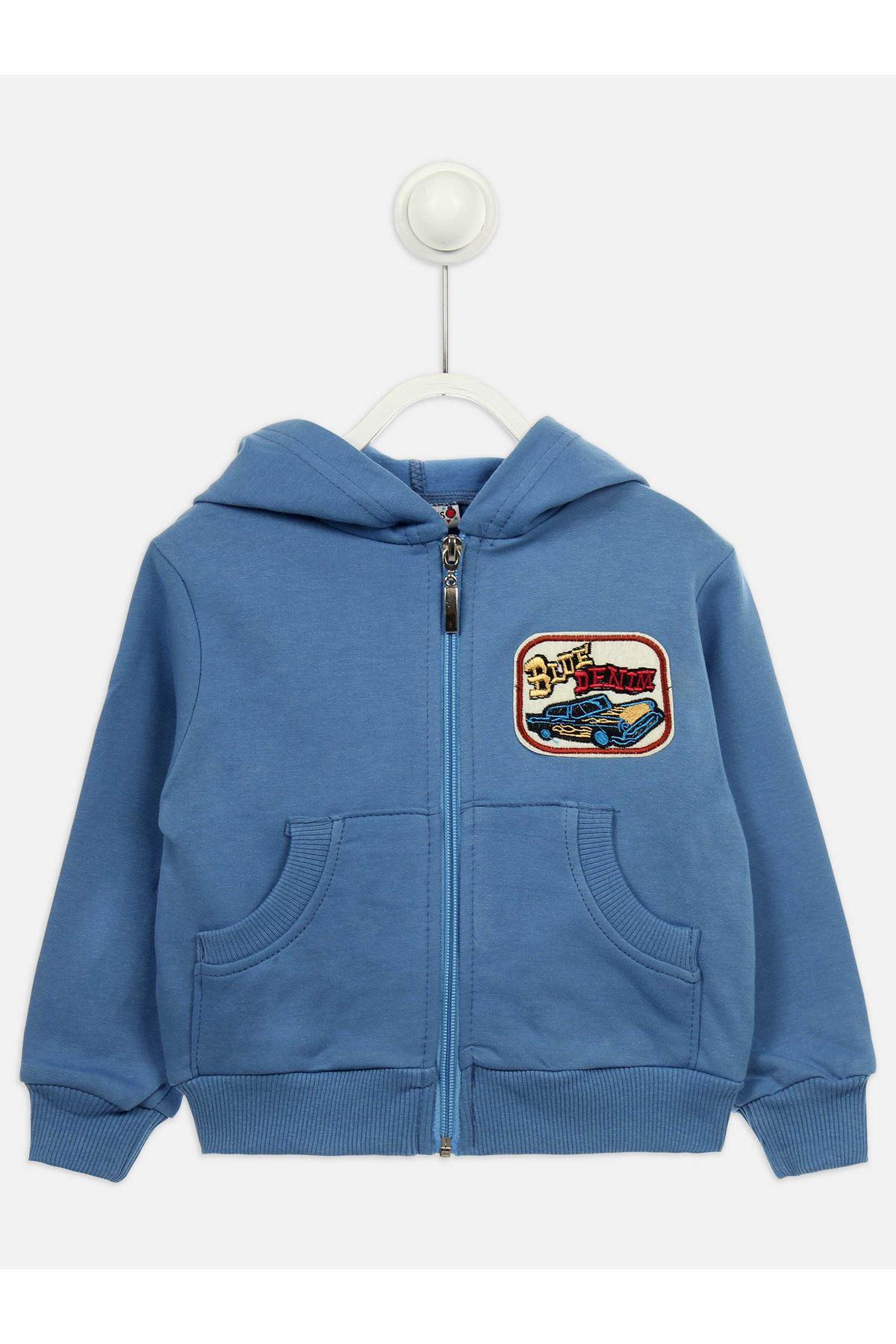 Açık Mavi Mevsimlik Erkek Çocuk Sweatshirt