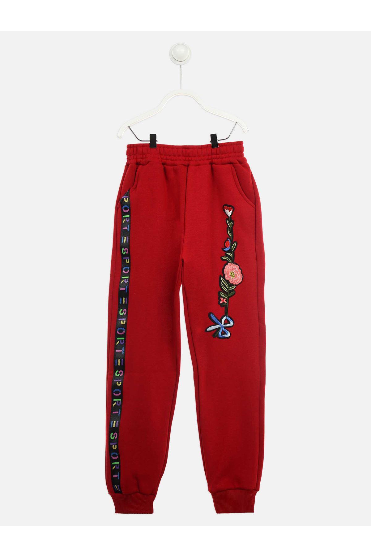 Red Winter Girl Boy Sweatpants