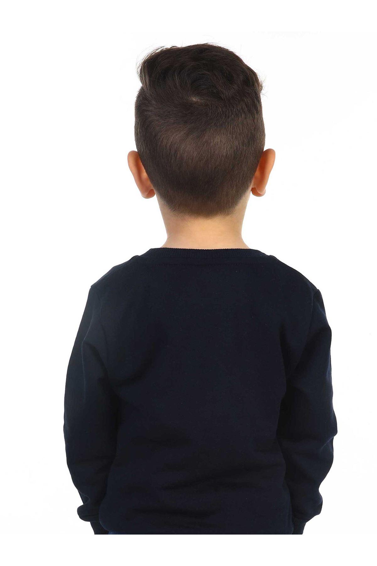 Koyu LacivertMevsimlik Erkek Çocuk Sweatshirt