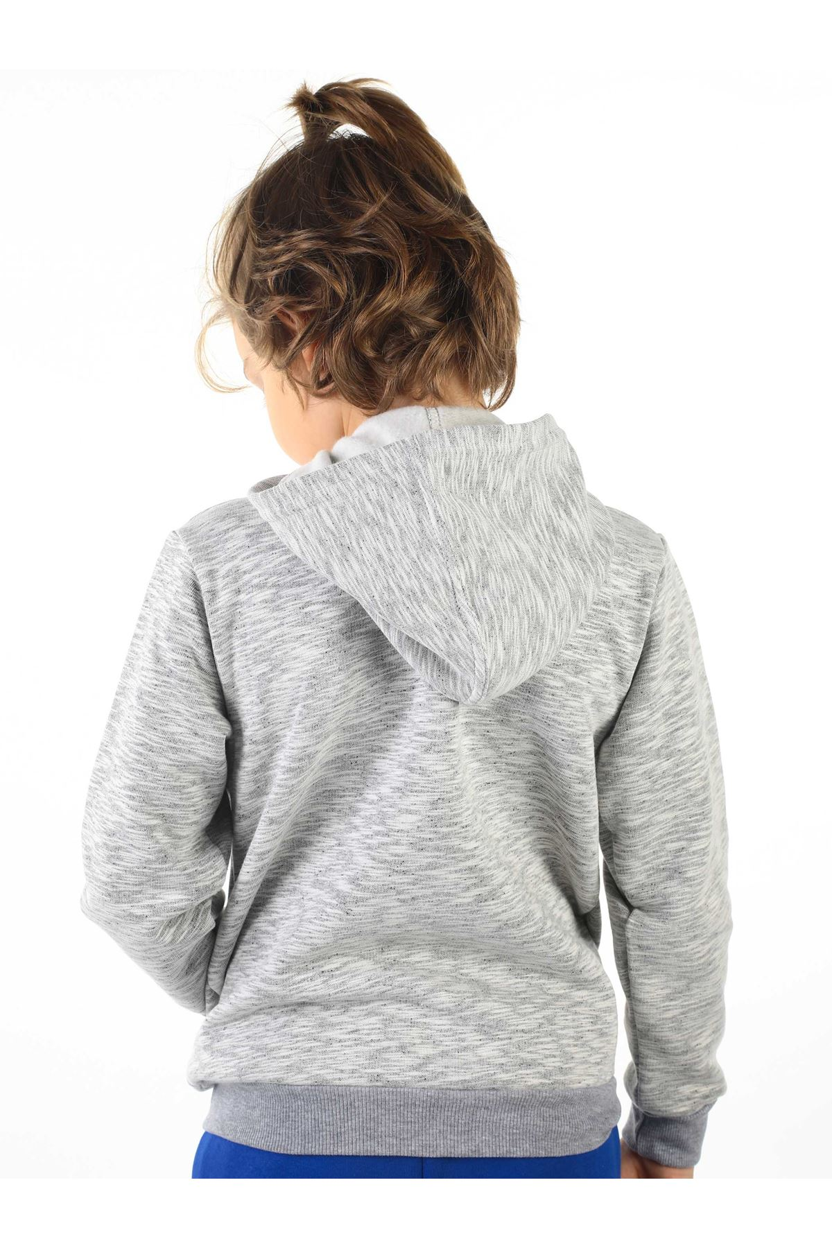 Gri Kışlık Kapüşonlu Erkek Çocuk Ceket