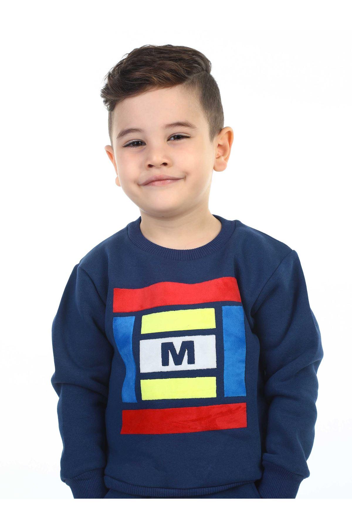 İndigo Kışlık Erkek Çocuk Sweatshirt