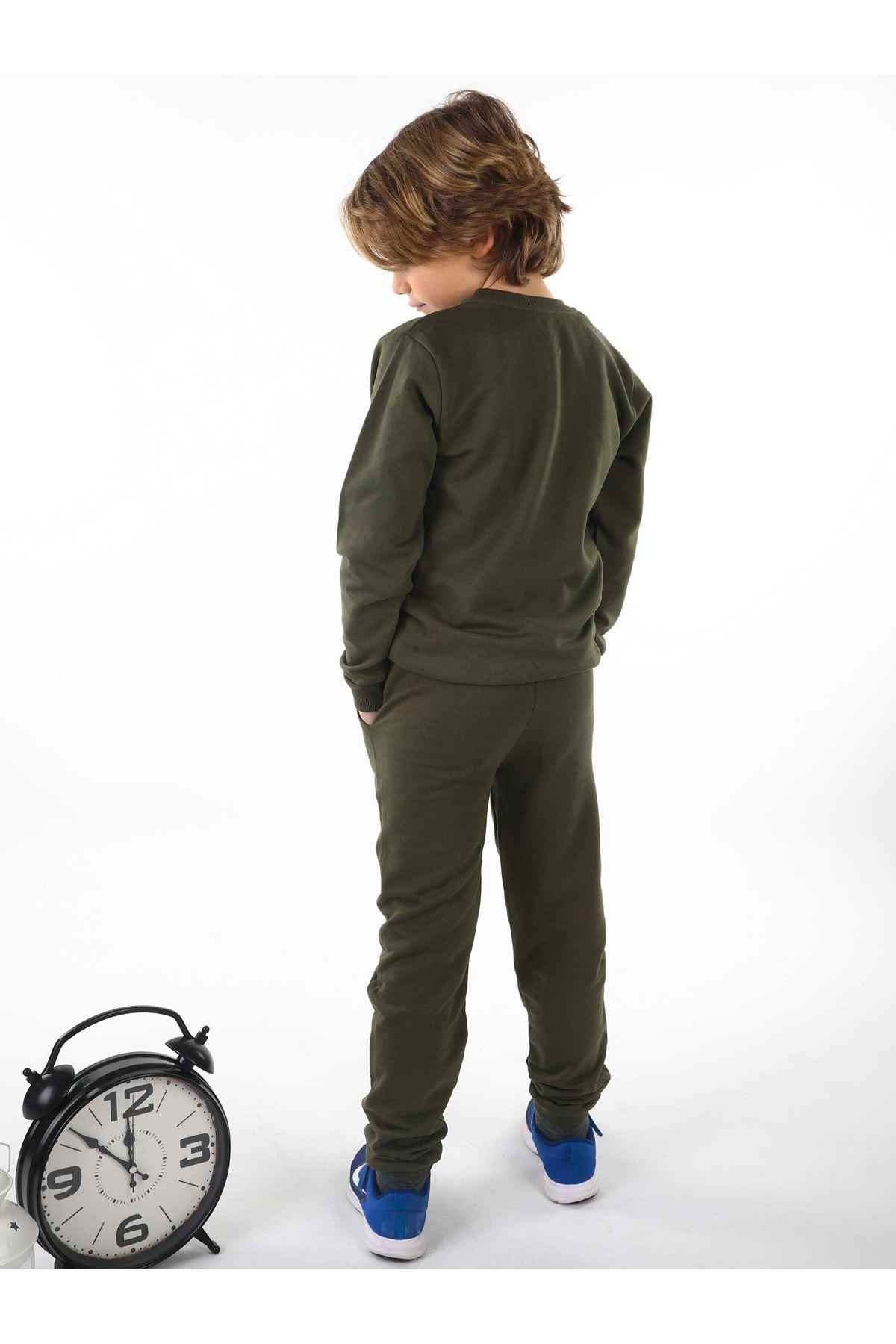 Khaki Seasonal Male Child Sweatshirt