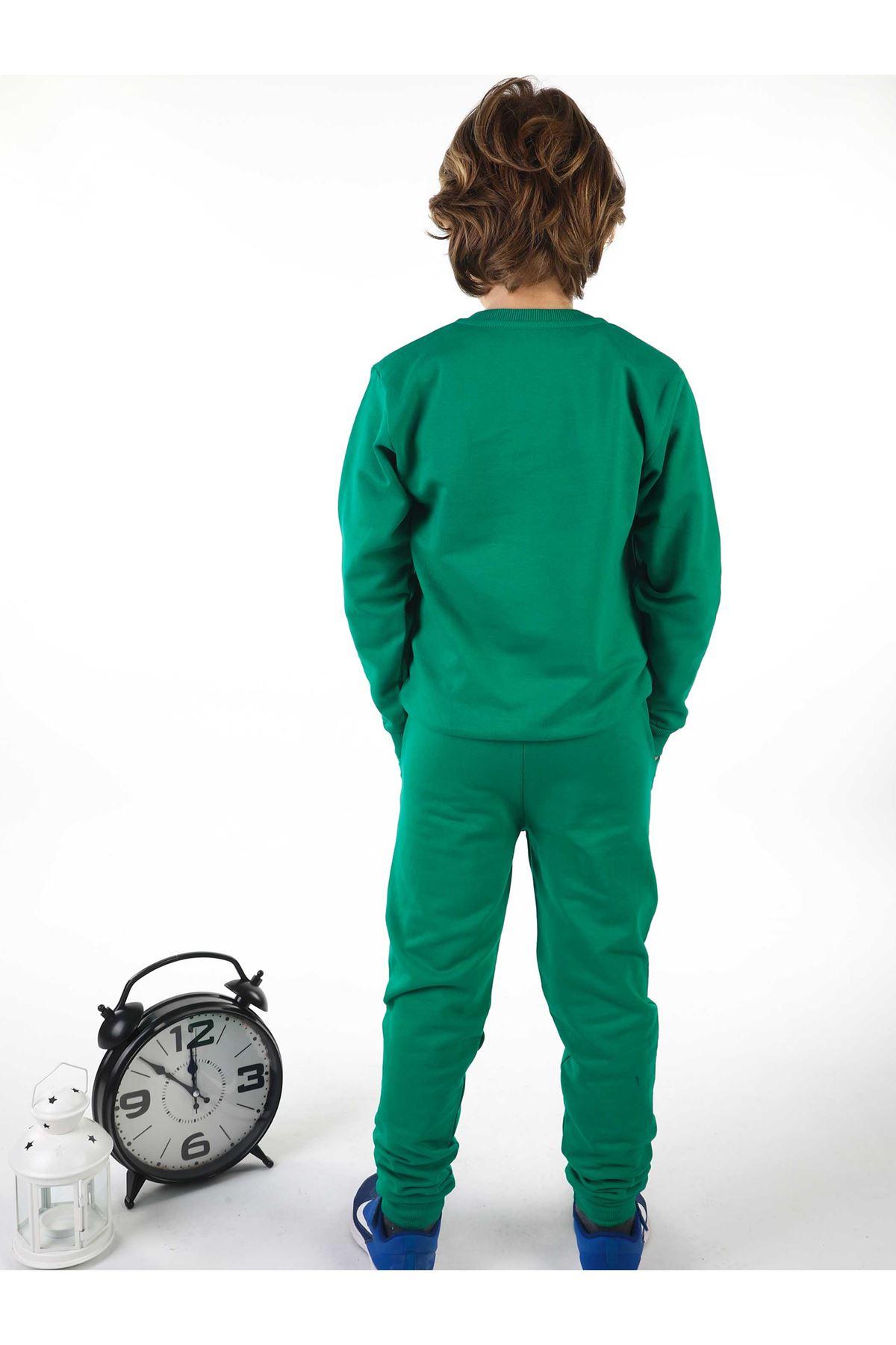 Green Seasonal Male Child Sweatshirt