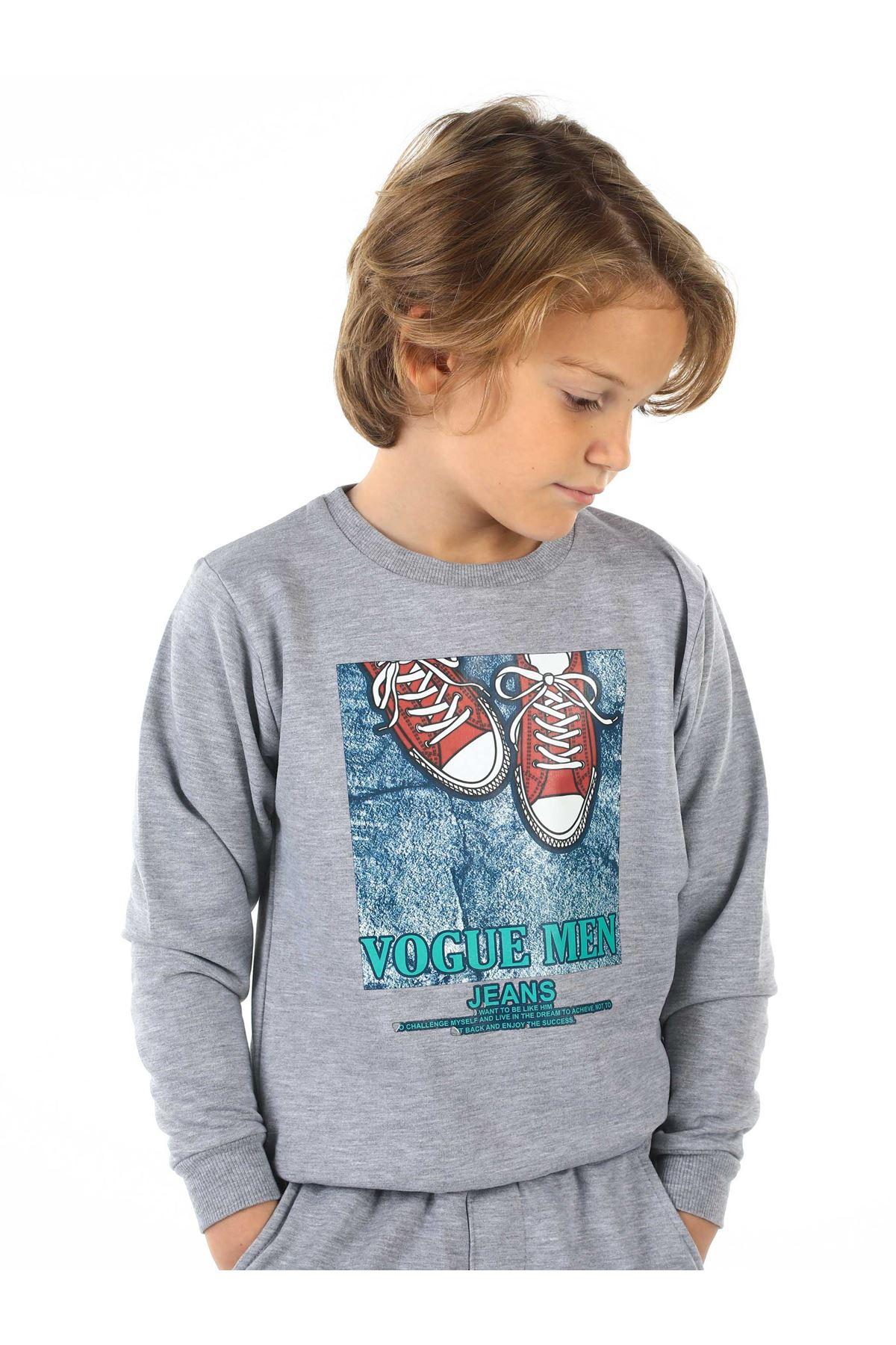 Gray Seasonal Male Child Sweatshirt