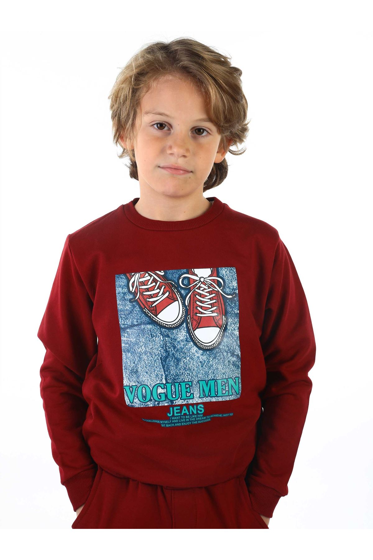 Burgundy Seasonal Male Child Sweatshirt