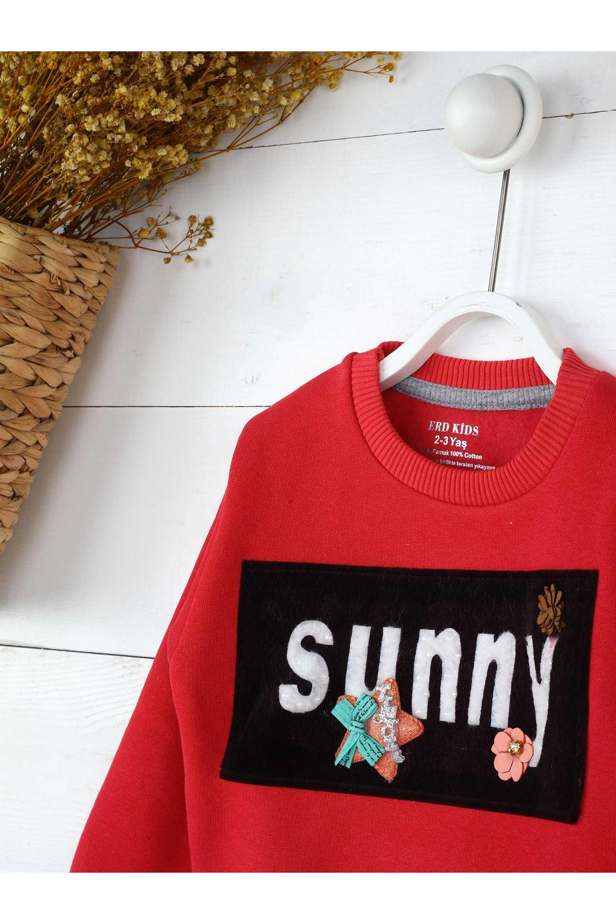 Pomegranate Flower Winter Girls Children Sweatshirts