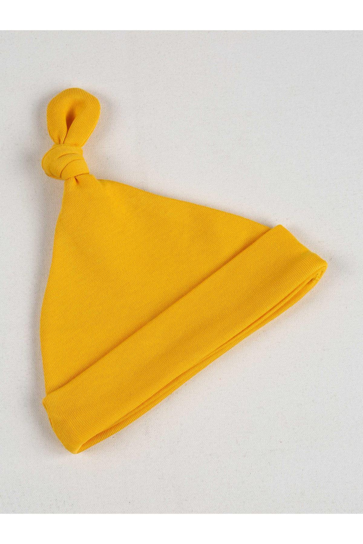 Yellow Newborn Baby Beanie