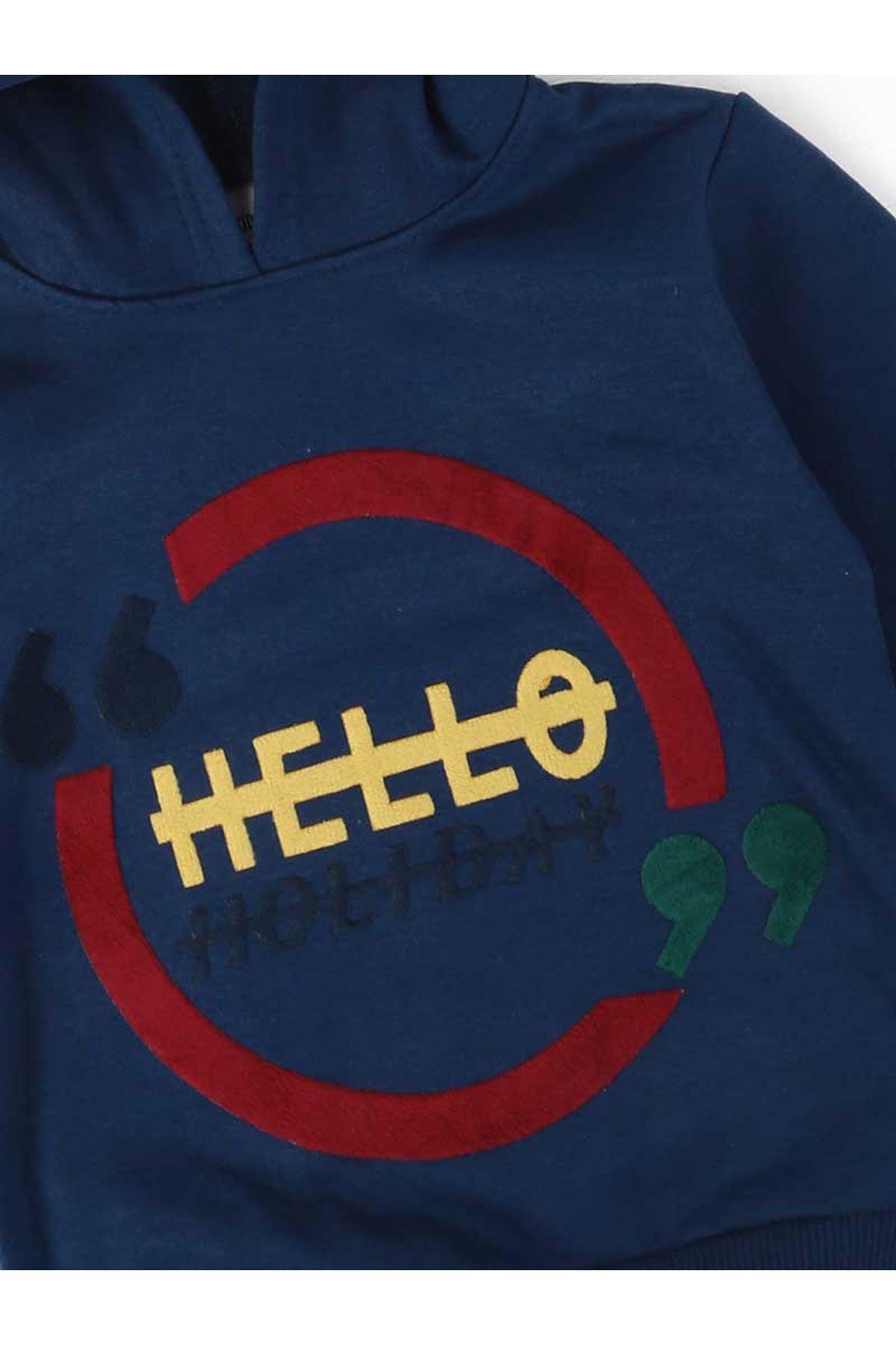 Indigo Seasonal Hooded Male Child Sweatshirt