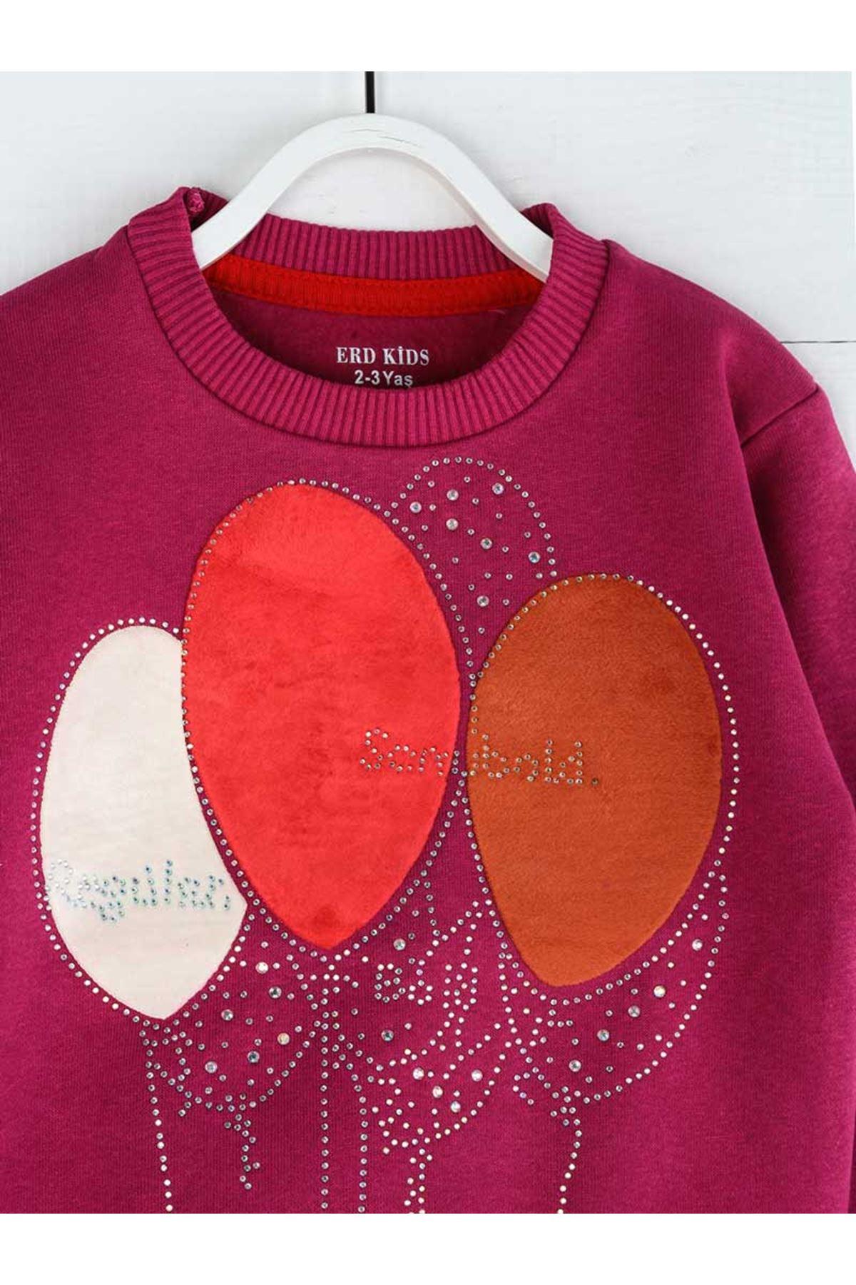 Purple Winter Girls Children Sweatshirts