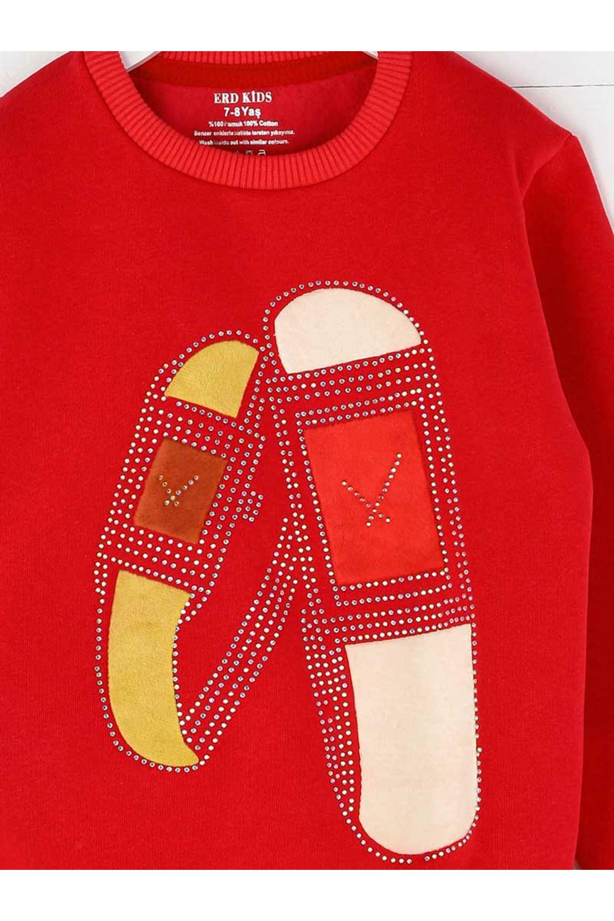 Red Winter Female Child Sweatshirt