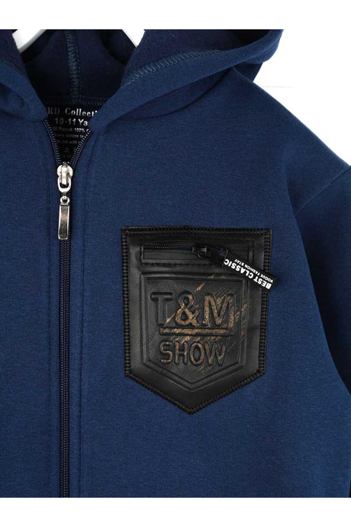 Indigo Winterisation Male Child Sweatshirt