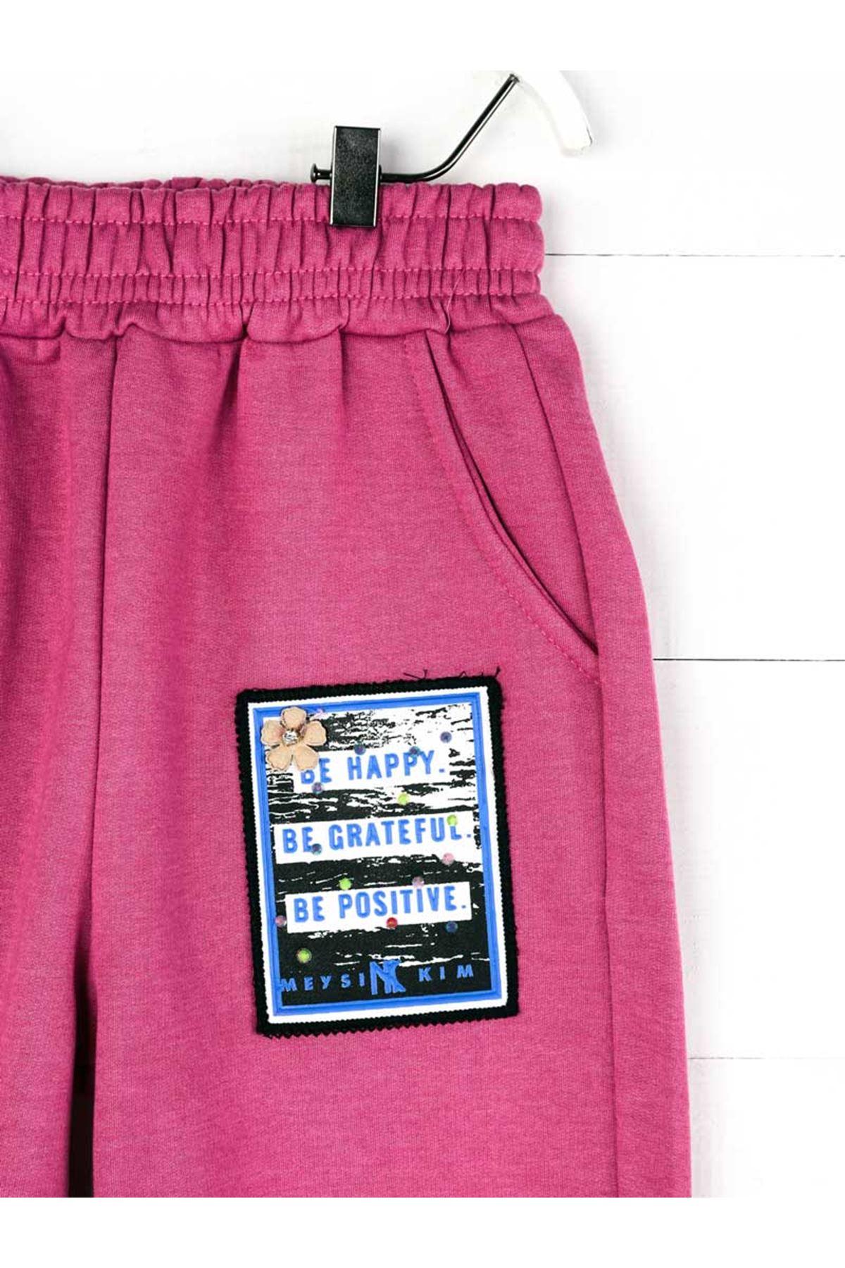 Purple Seasonal Girl Boy Sweatpants