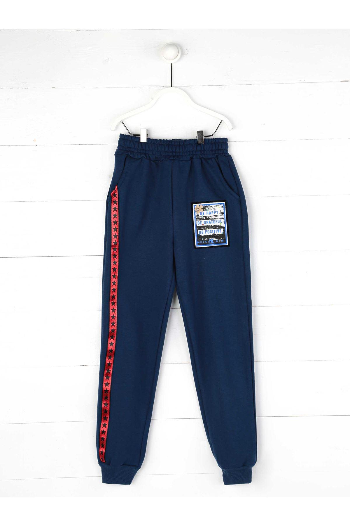 Navy blue Seasonal Girl Boy Sweatpants