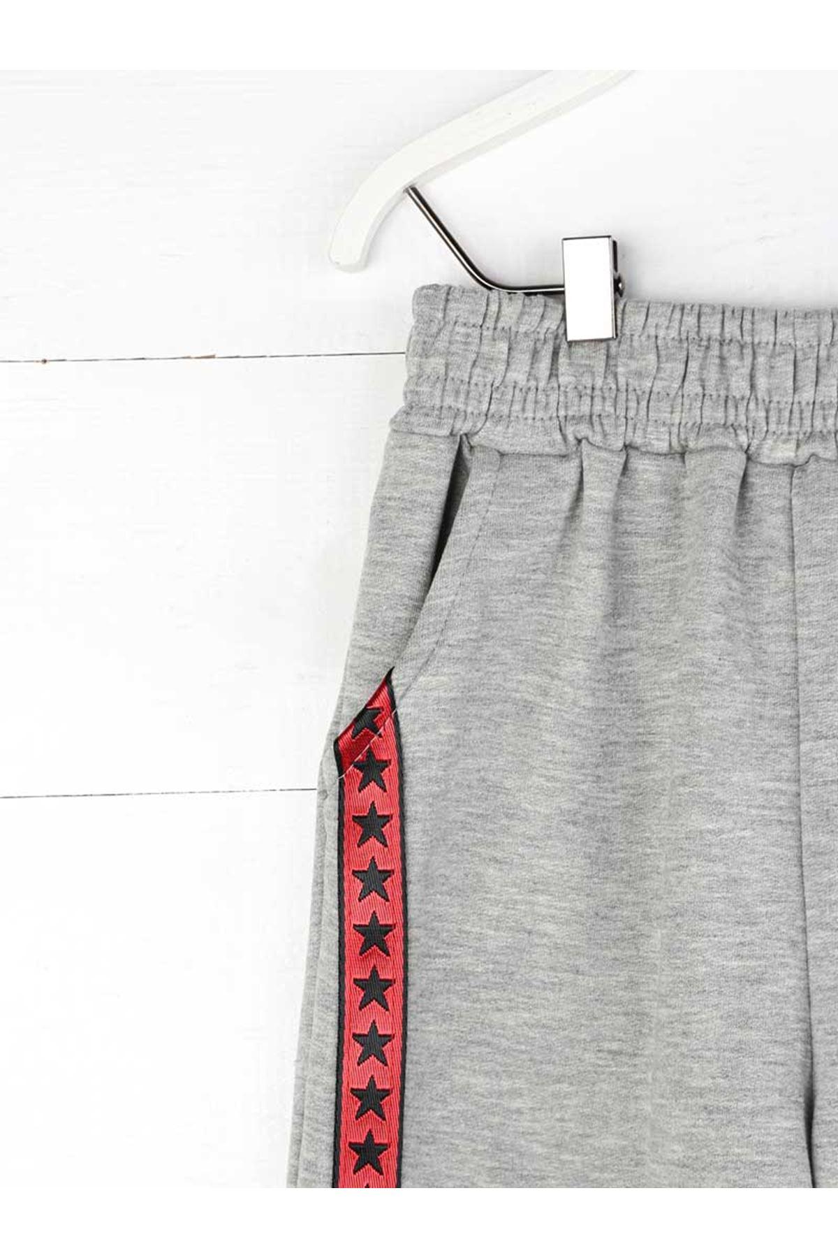 Gray Seasonal Girl Boy Sweatpants