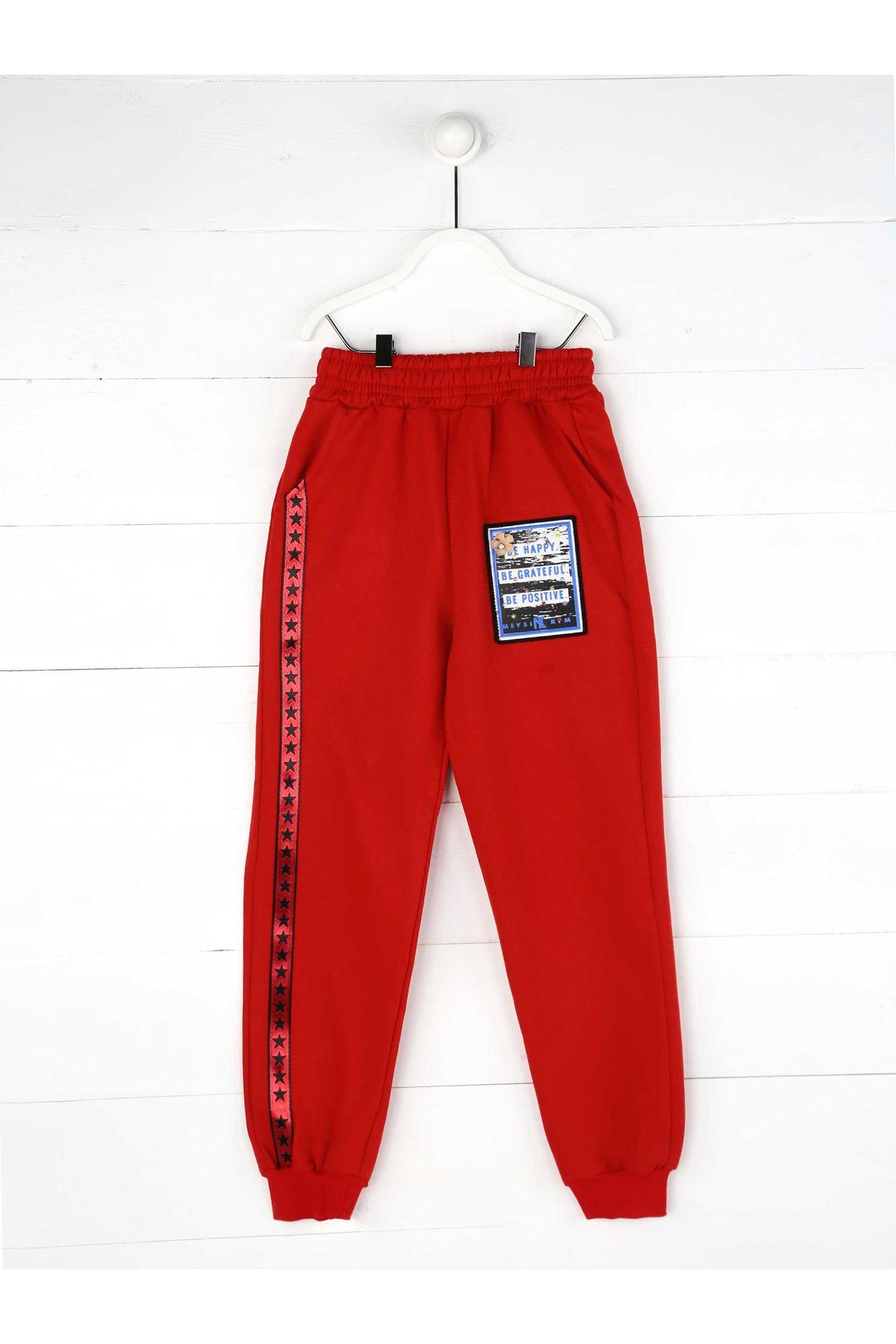 Red Seasonal Girl's Trousers