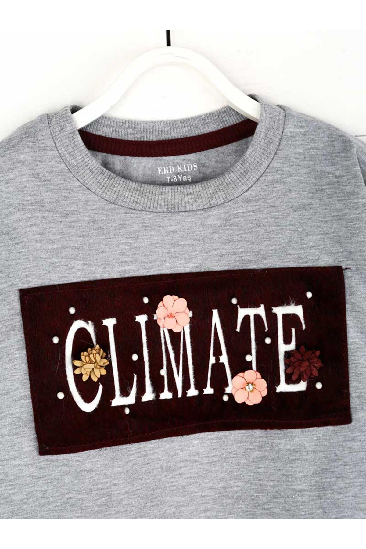 Gray Seasonal Girl Child Sweatshirt