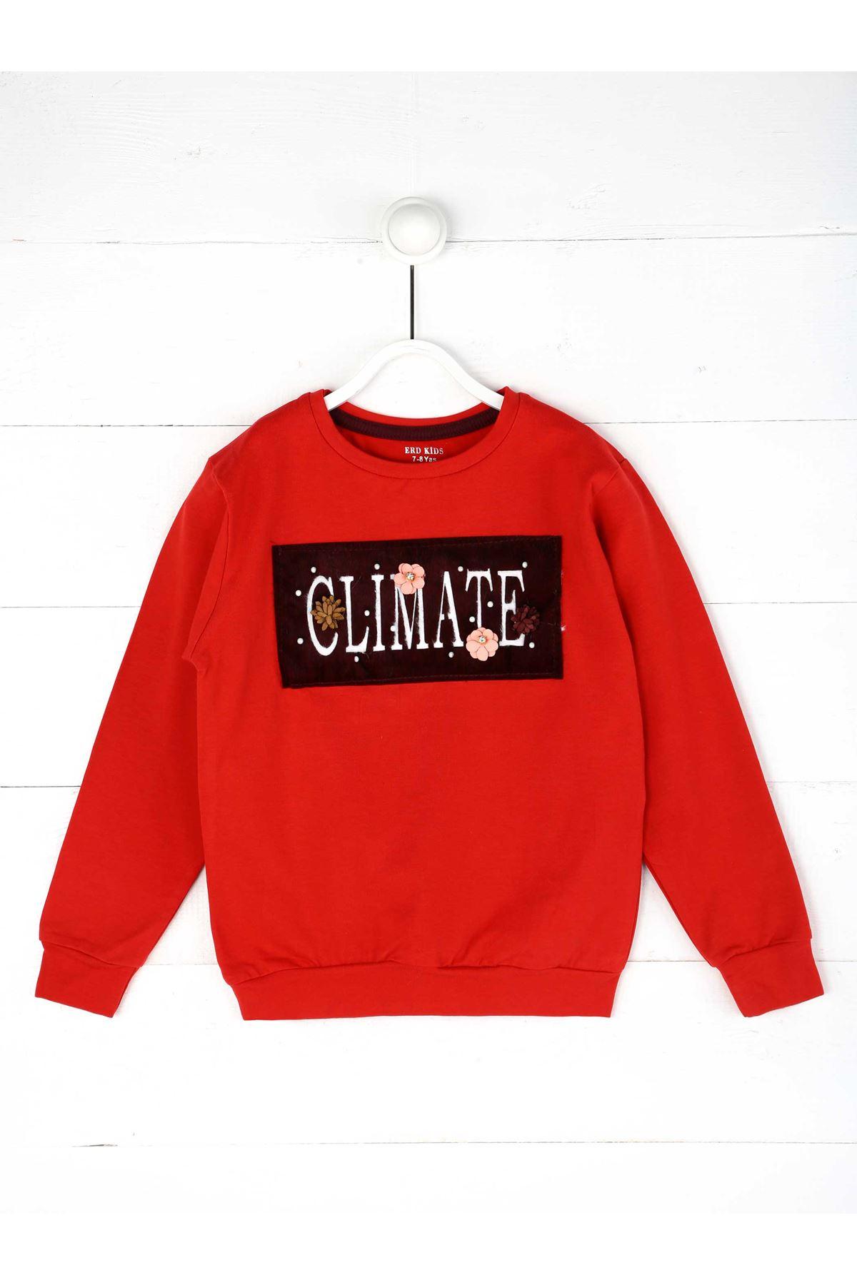 Grenadine red Seasonal Girl Child Sweatshirt