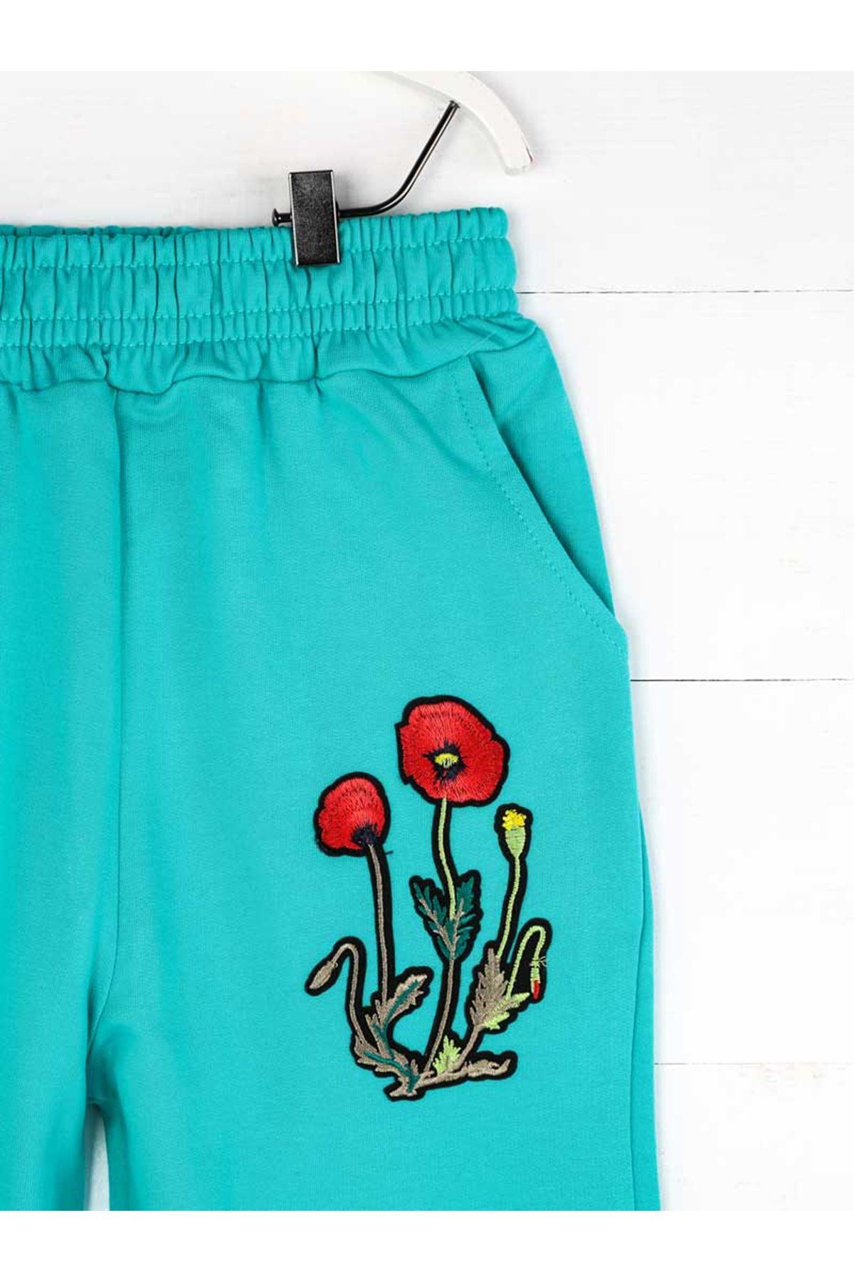 Green Seasonal Girl Boy Sweatpants