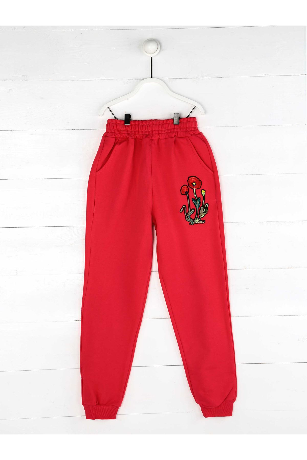 Pomegranate Flower Seasonal Girl Boy Sweatpants