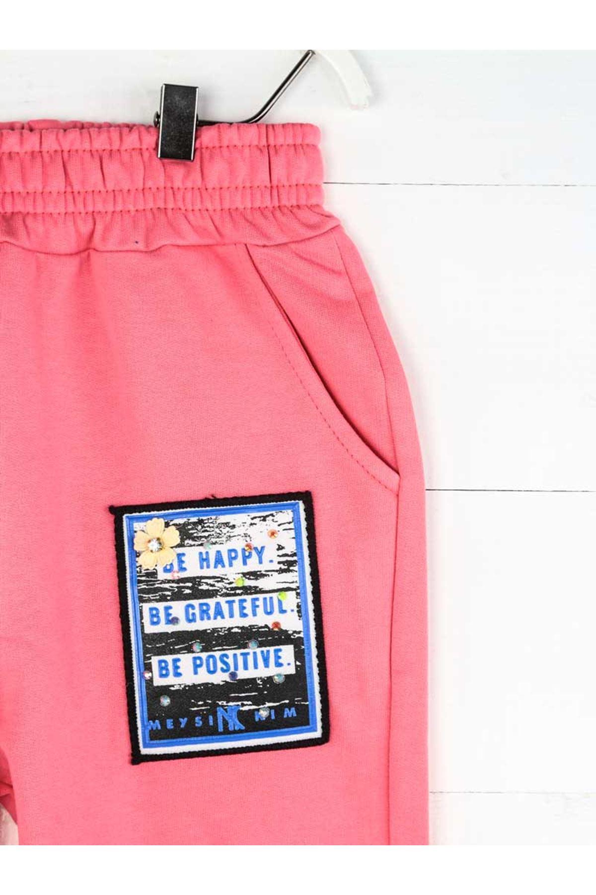 Pink Seasonal Girl Boy Sweatpants