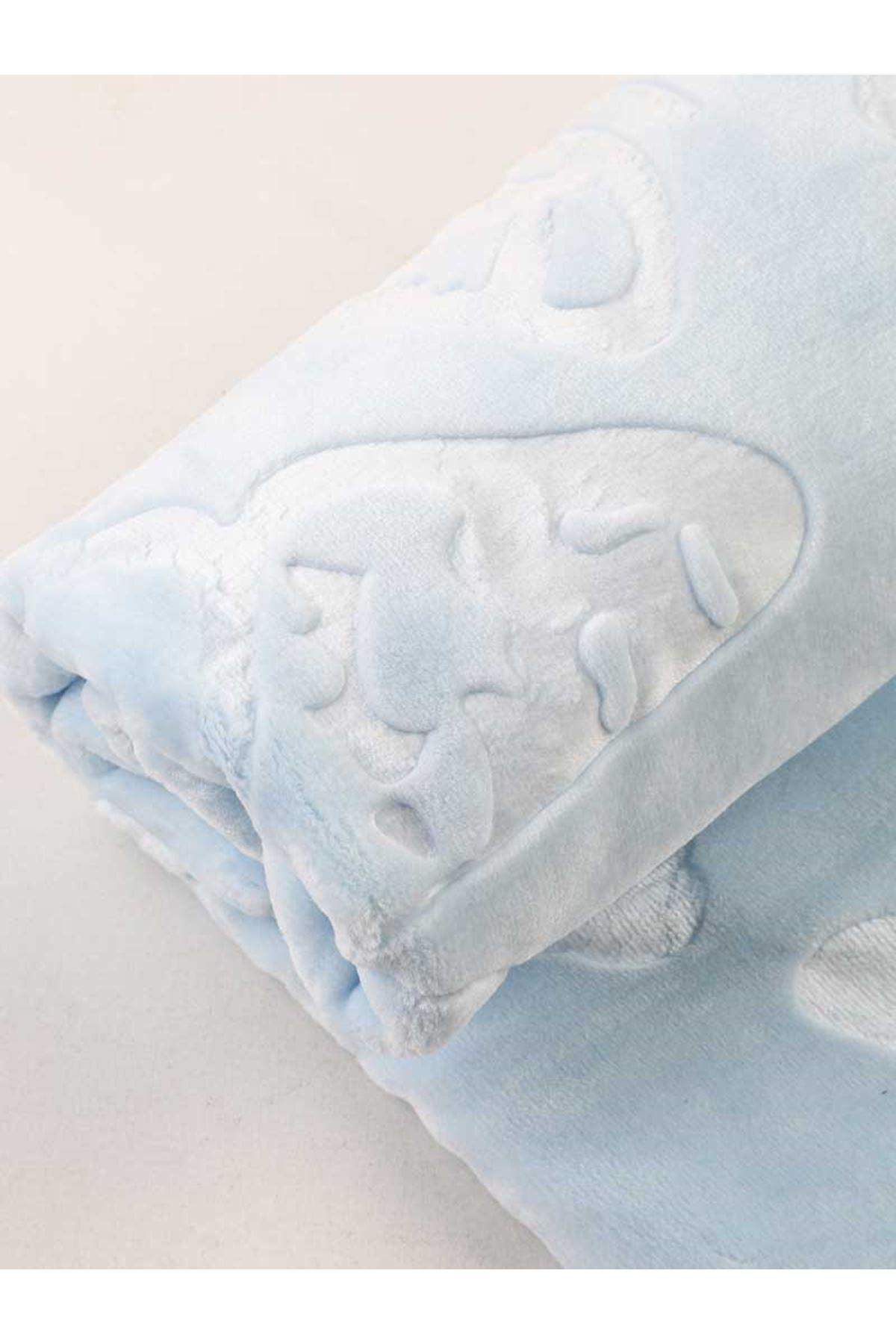 Blue heart pattern Blanket Baby boy soft Babies Kids blanket patterns Model