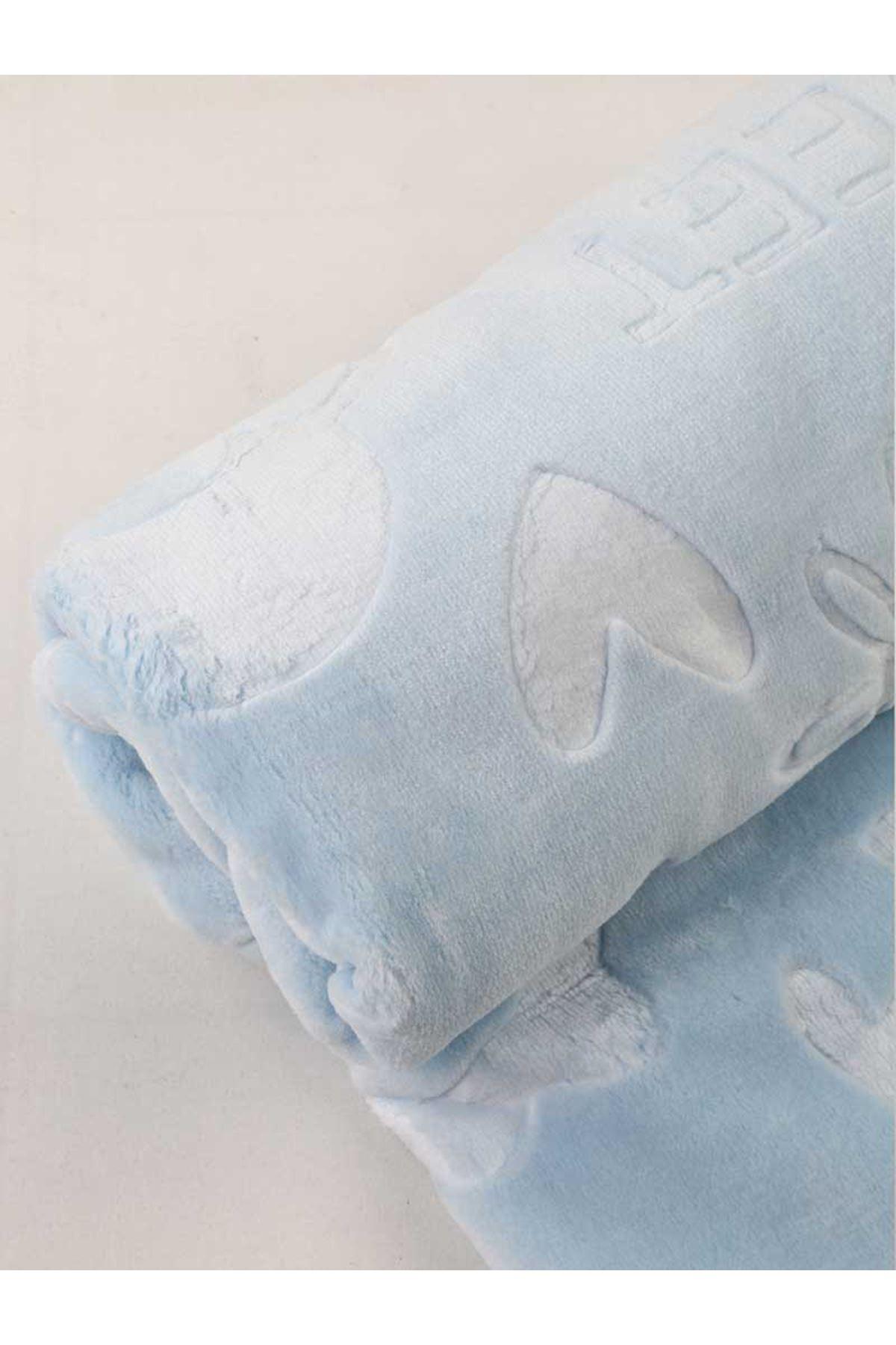 Blue Plush 120x100 cm Male Baby Blanket