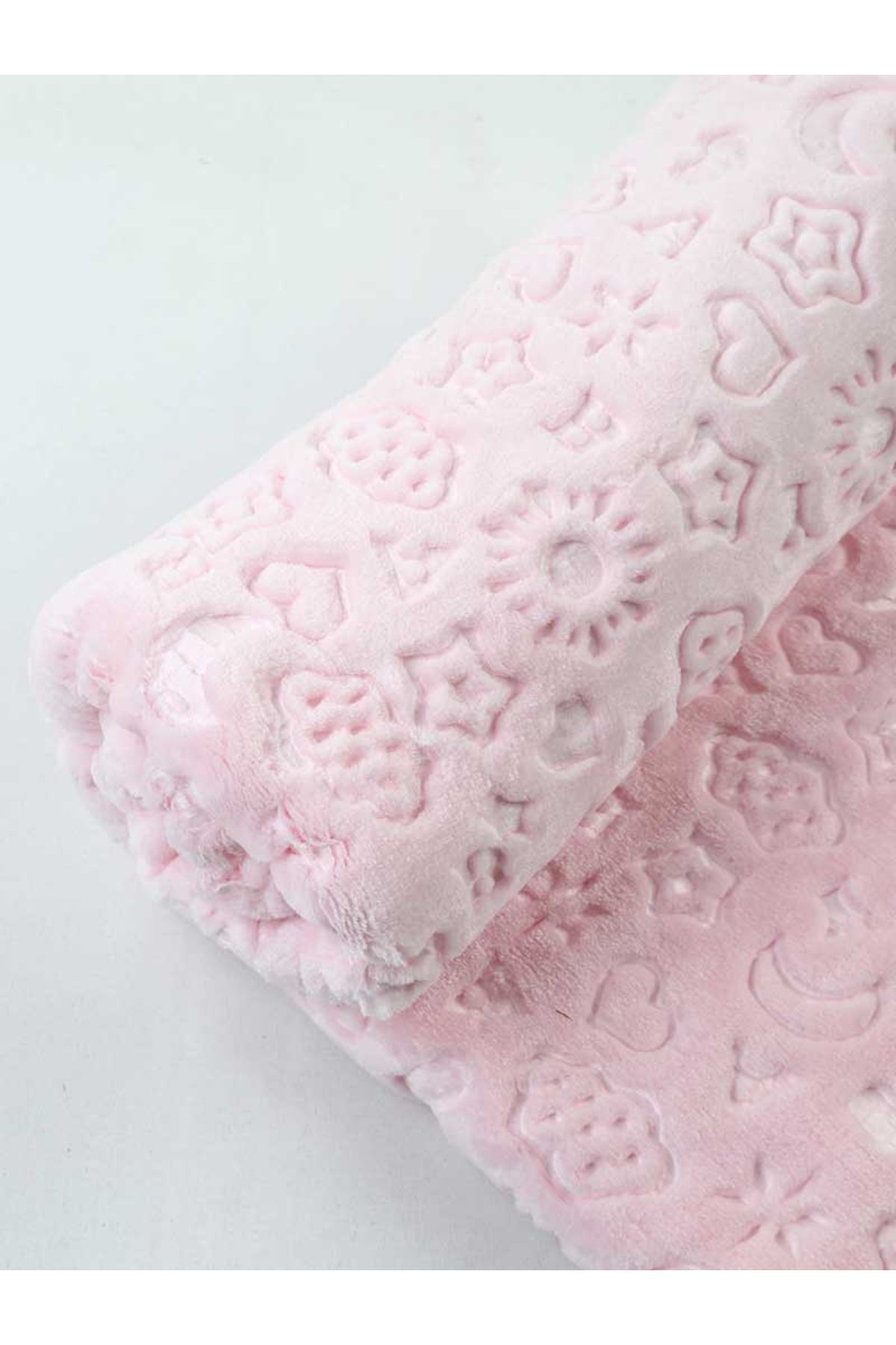 Pink Plush 120x100 Cm Baby Girl Blanket