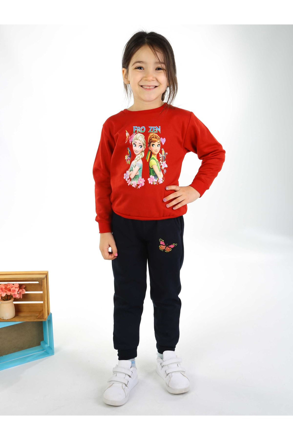 Red Navy Blue Girl 2 Pieces Set