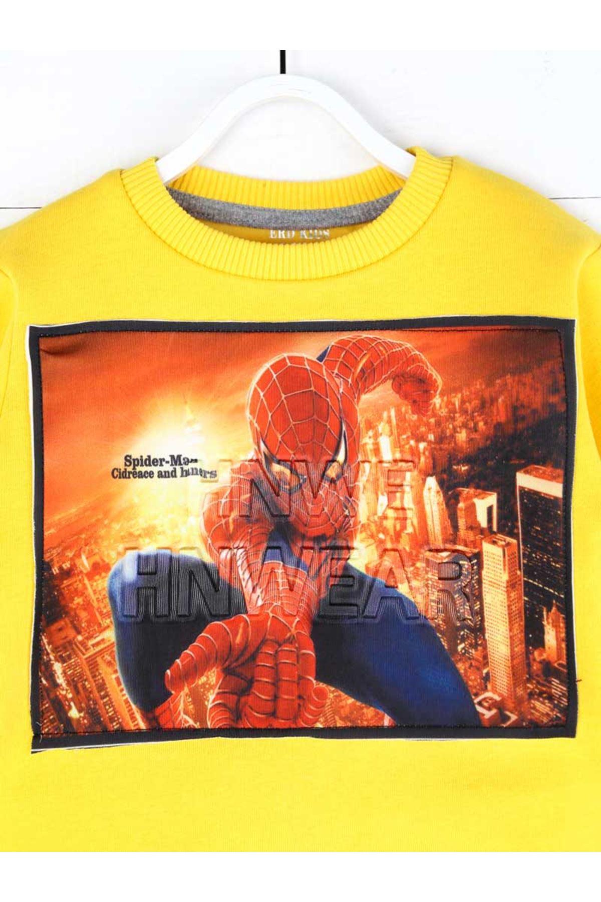 Sarı Kışlık Erkek Çocuk Sweatshirt