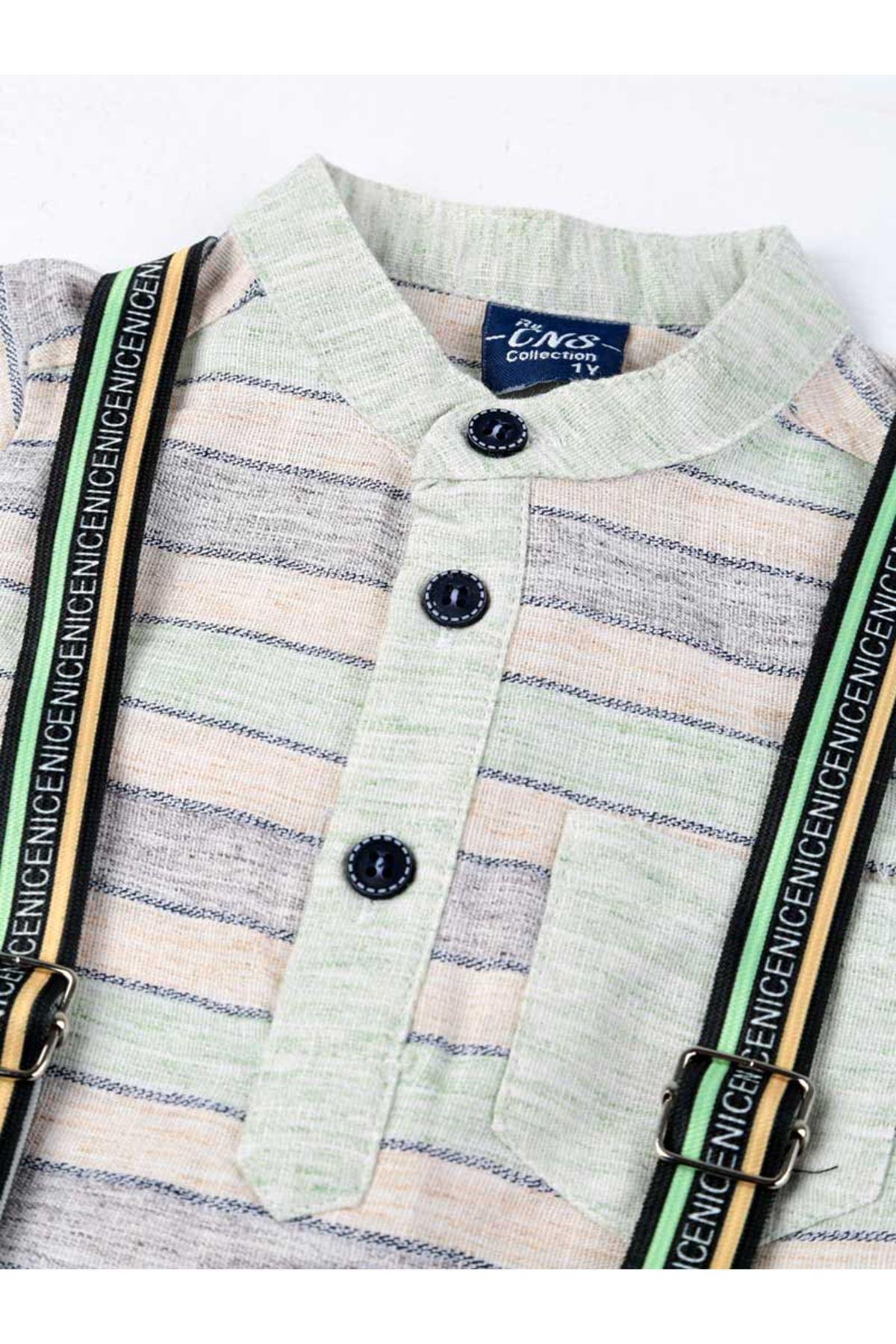 Green Cream Summer Boy 3-piece Suit
