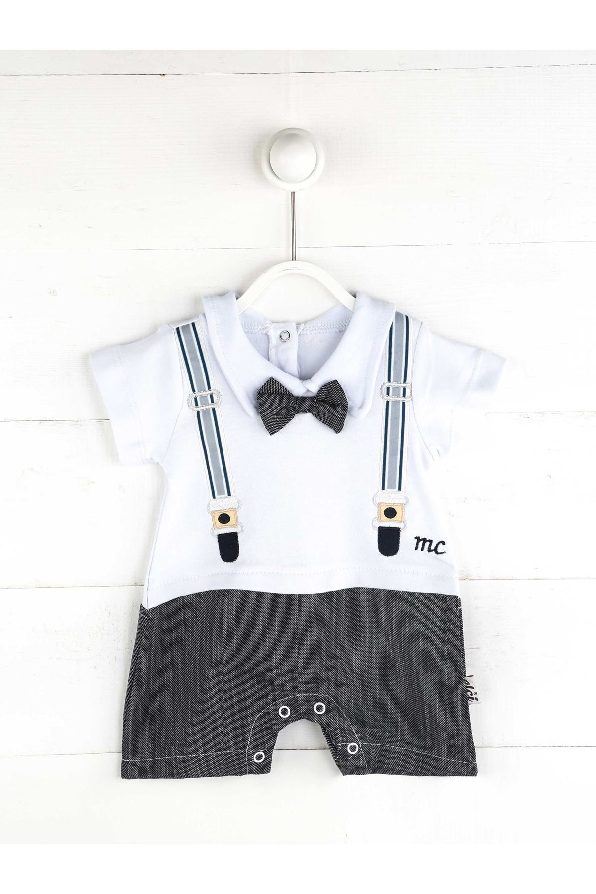 Baby shorts gentleman boys bow tie overalls suit 100% cotton bottom closure feature cute handsome babies models