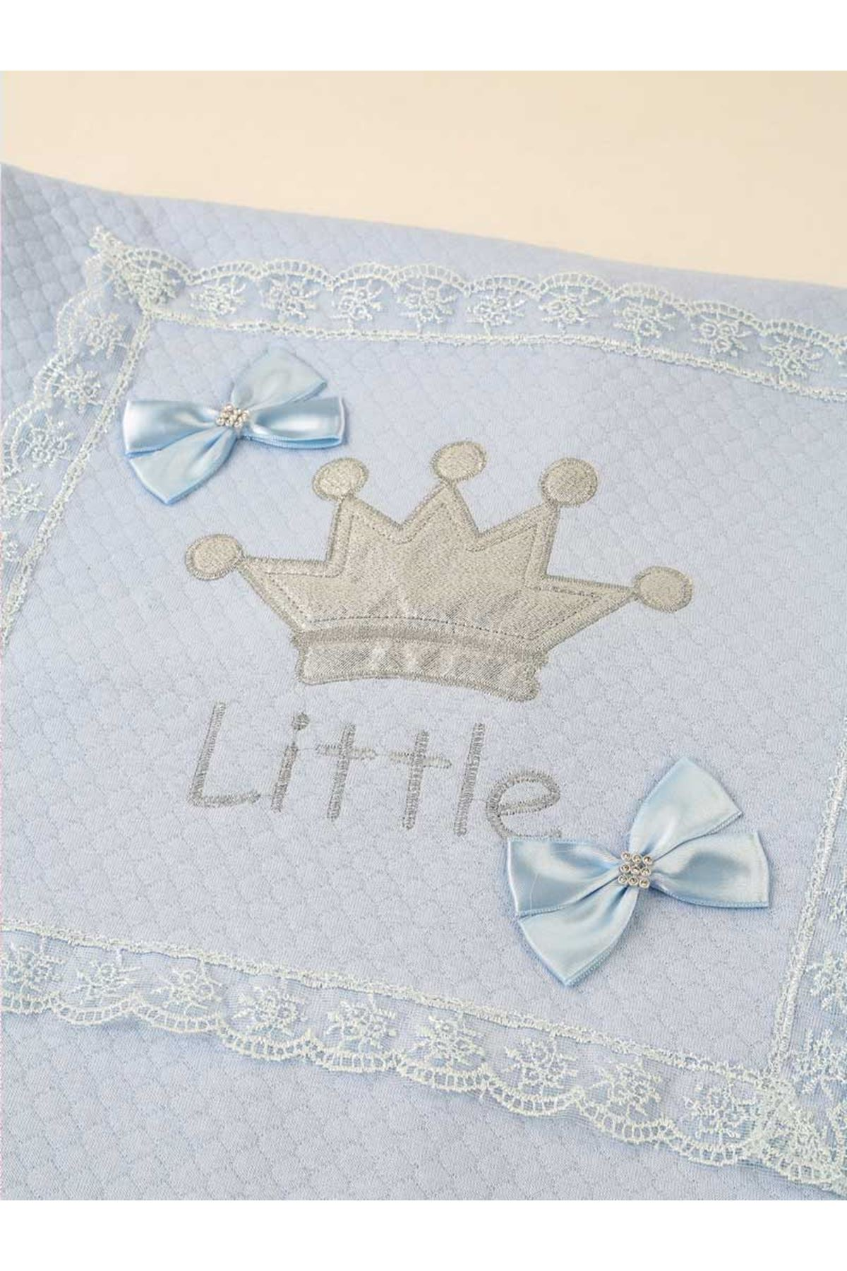 Blue 85 X85 cm Male Baby Swaddle Blanket