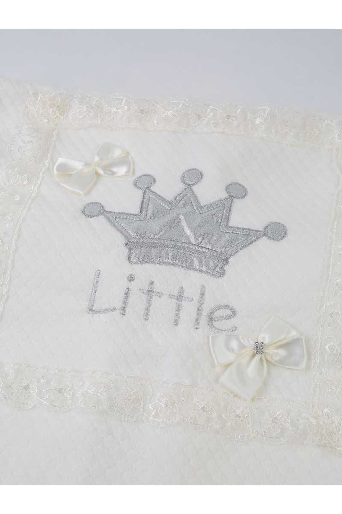 White Baby swaddle sleeping bag girls boys cute baby envelope super soft bed crown flower butterfly little king little princess