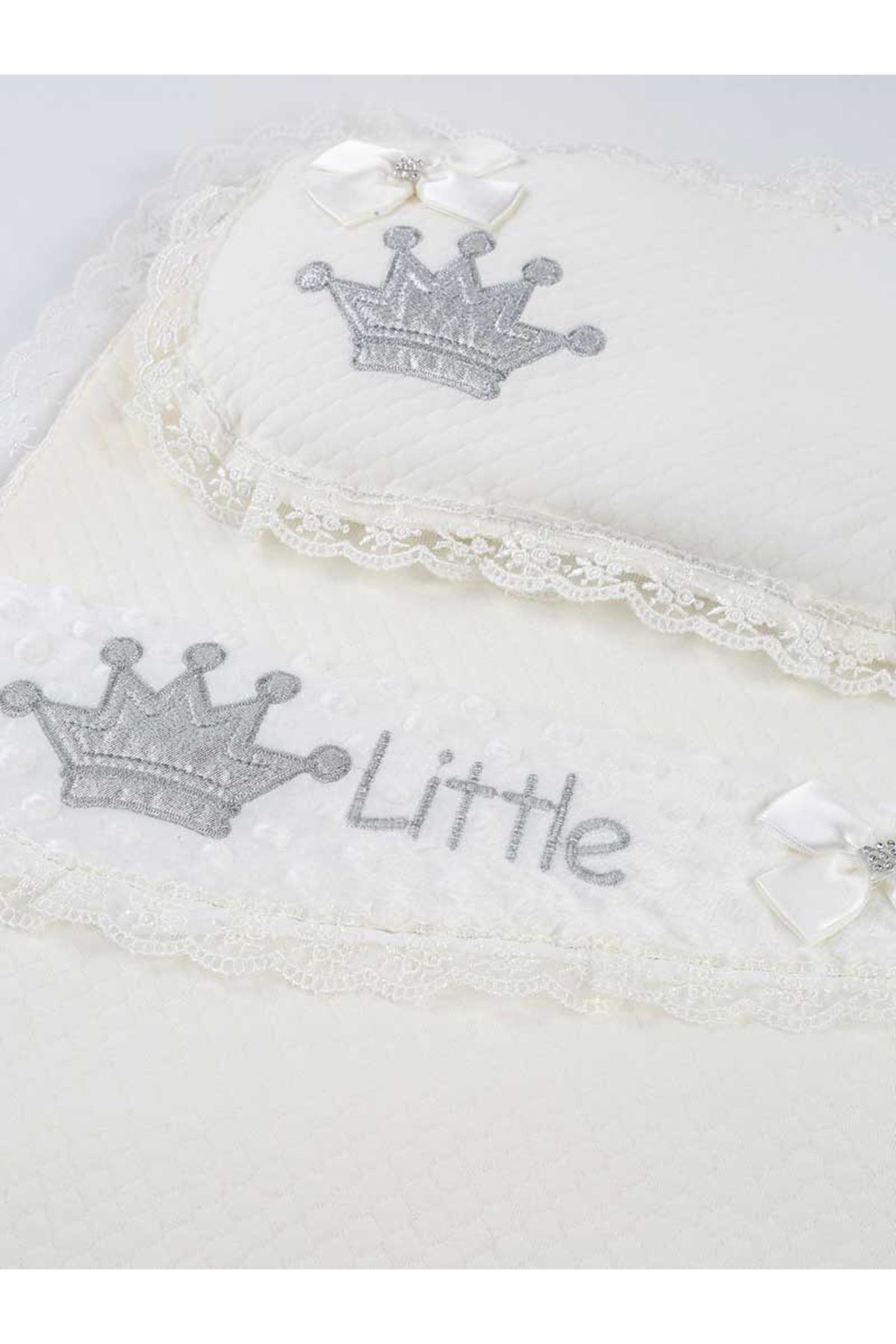Unisex Baby White Swaddle Bottom Opening Set Newborn Cotton King Queen Girl Boy Babies Male Clothes Comfortable Stroller Use