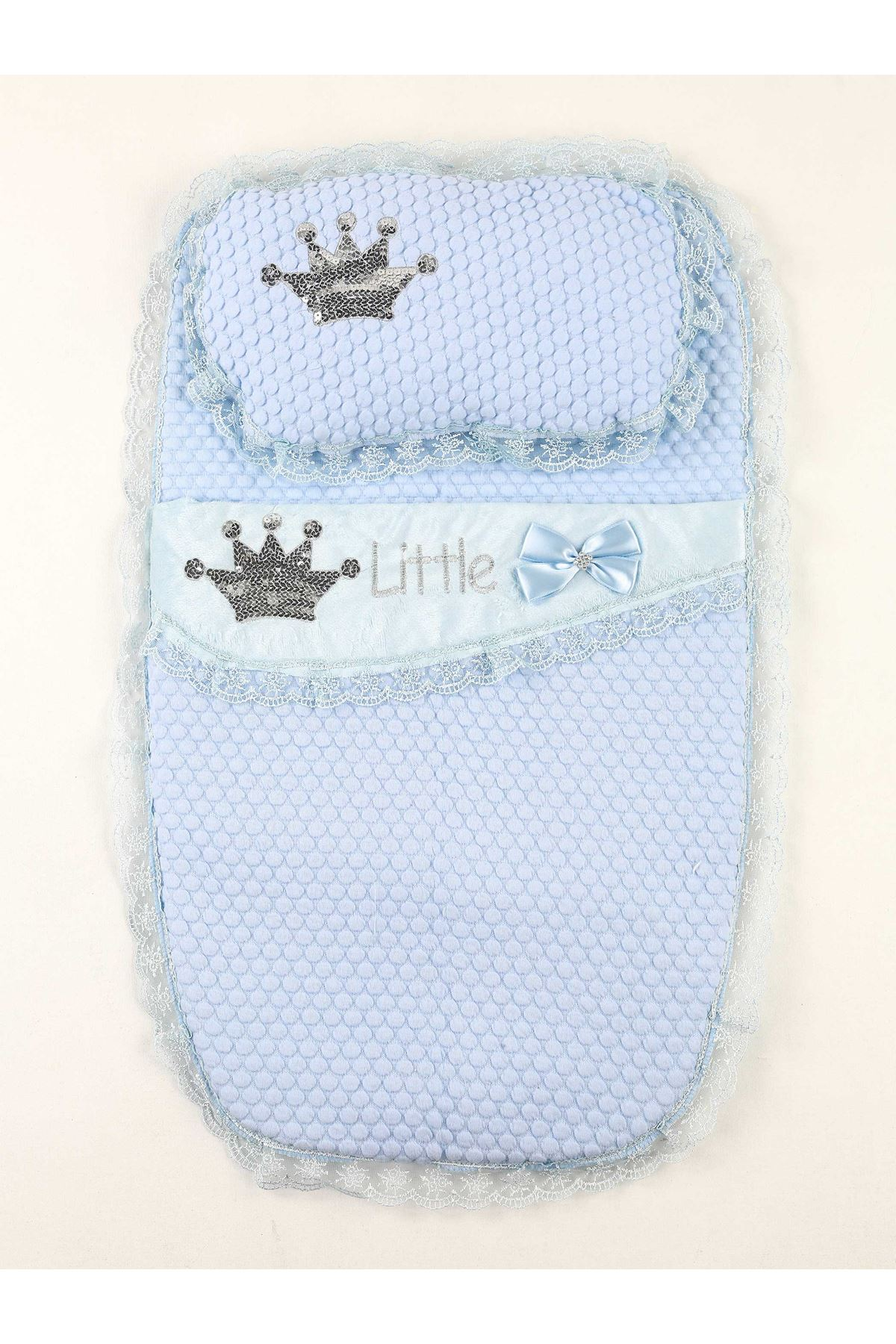 Blue Baby Boy Swaddle King Crown The Little Prince Cotton Soft Bottom Opening Babies Newborn Baby Stroller Bed Sweatproof Models